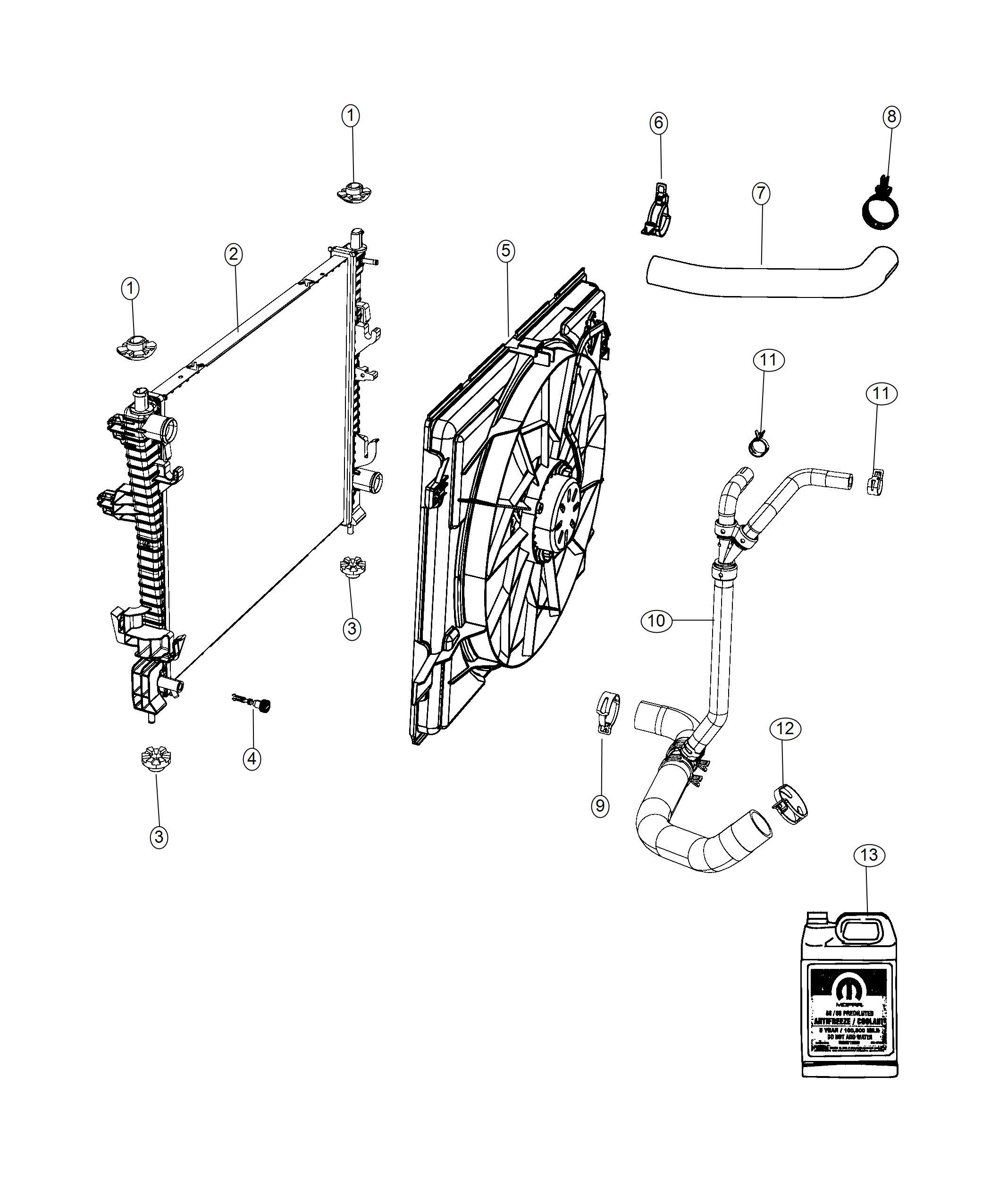 Dodge Durango Radiator Engine Cooling End Module