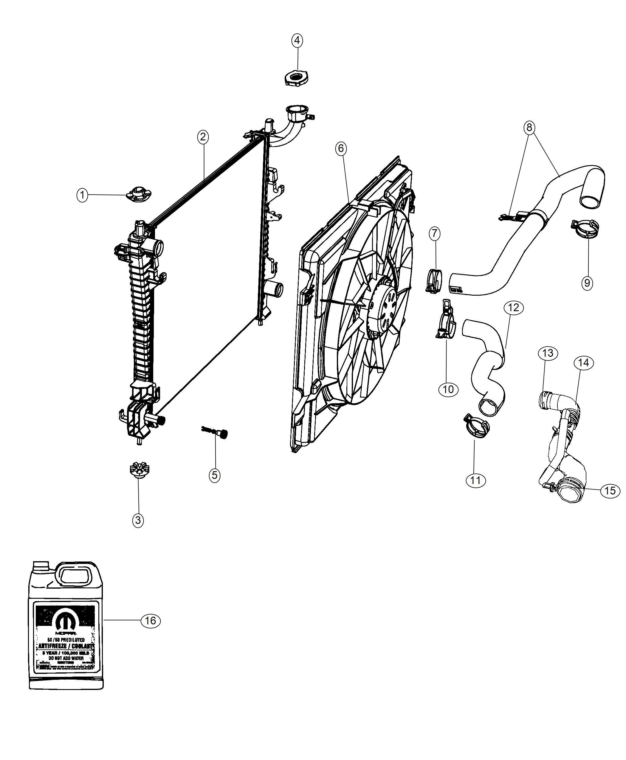 Dodge Durango Hose Radiator Outlet Engine Oil