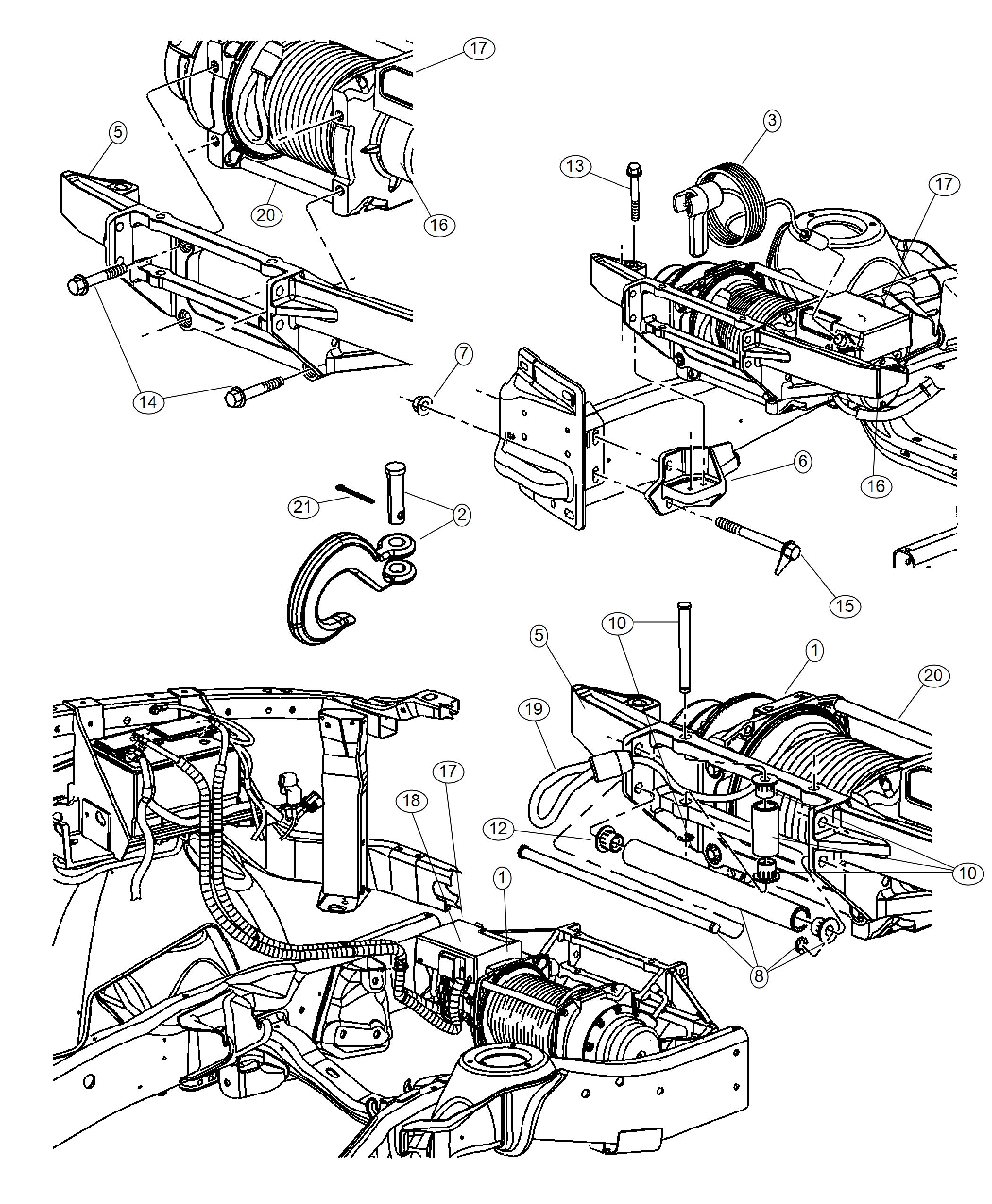 Ram Control Unit Winch Front Electric Winch Body