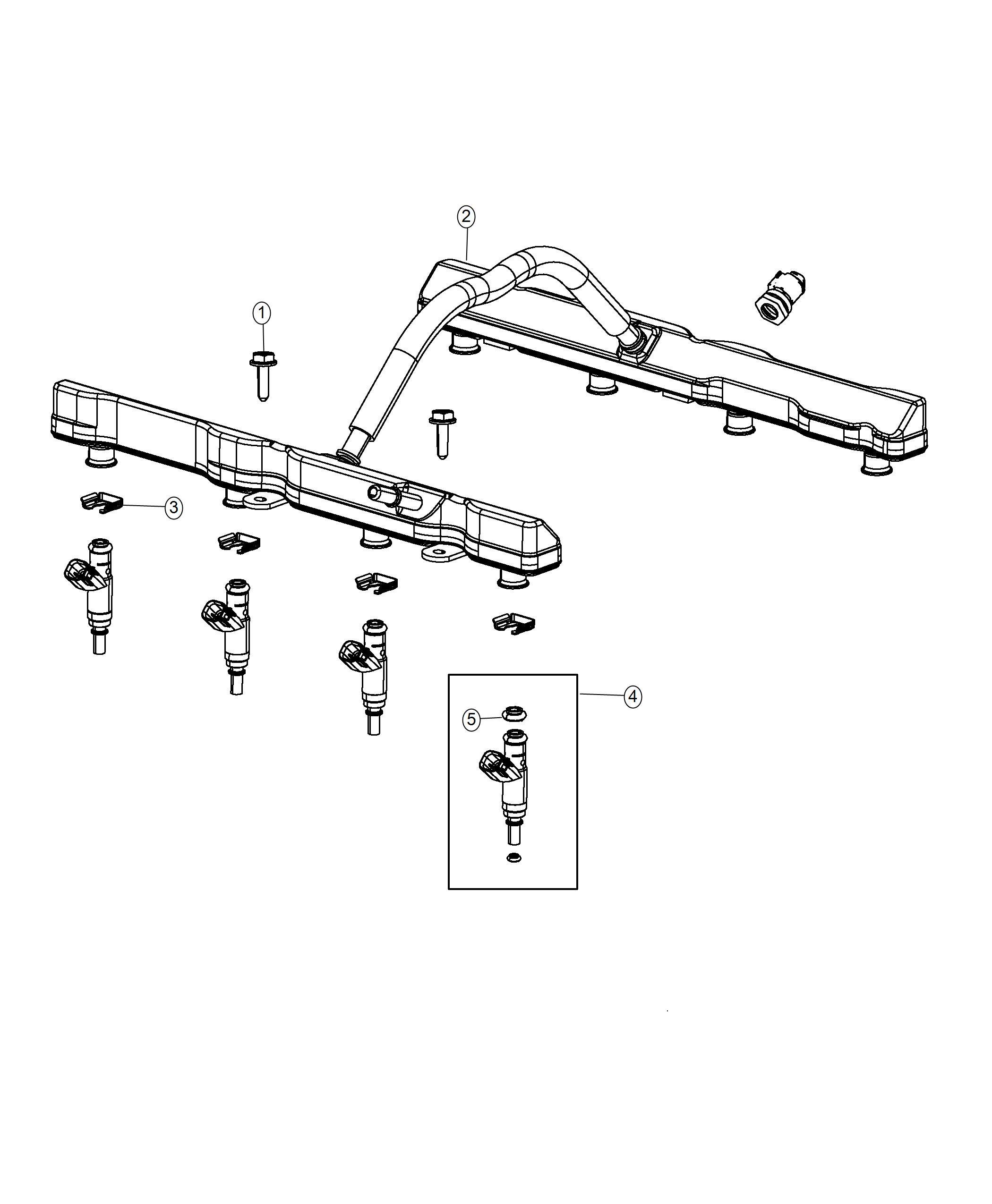 Ram O Ring Kit Fuel Injector 3 6l V6 24v Vvt