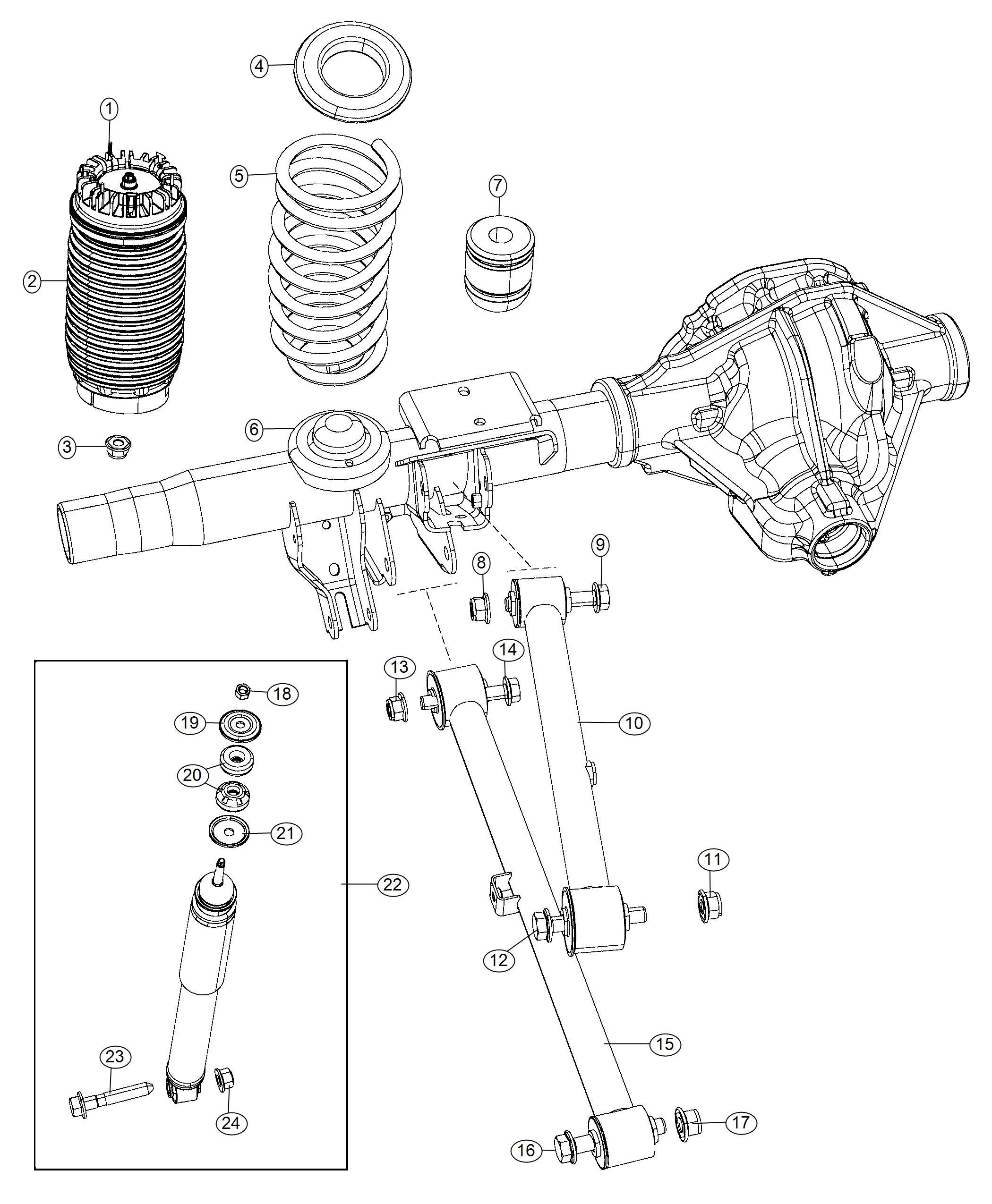 Ram Shock Absorber Kit Suspension Rear Rear
