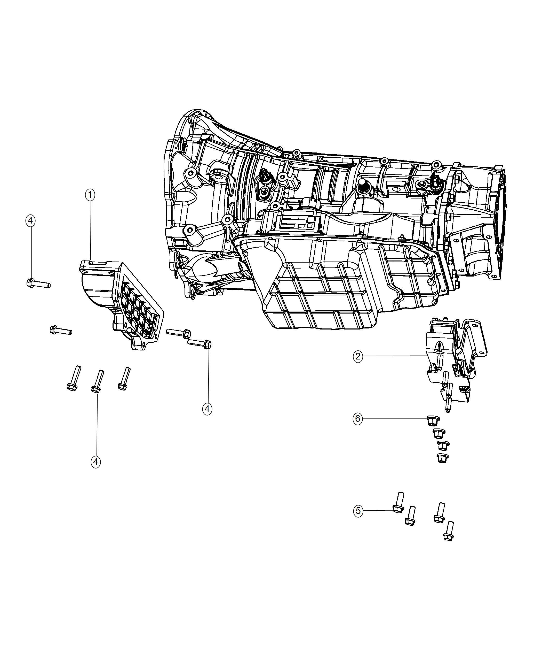 Ram Isolator Transmission Mount Body 94
