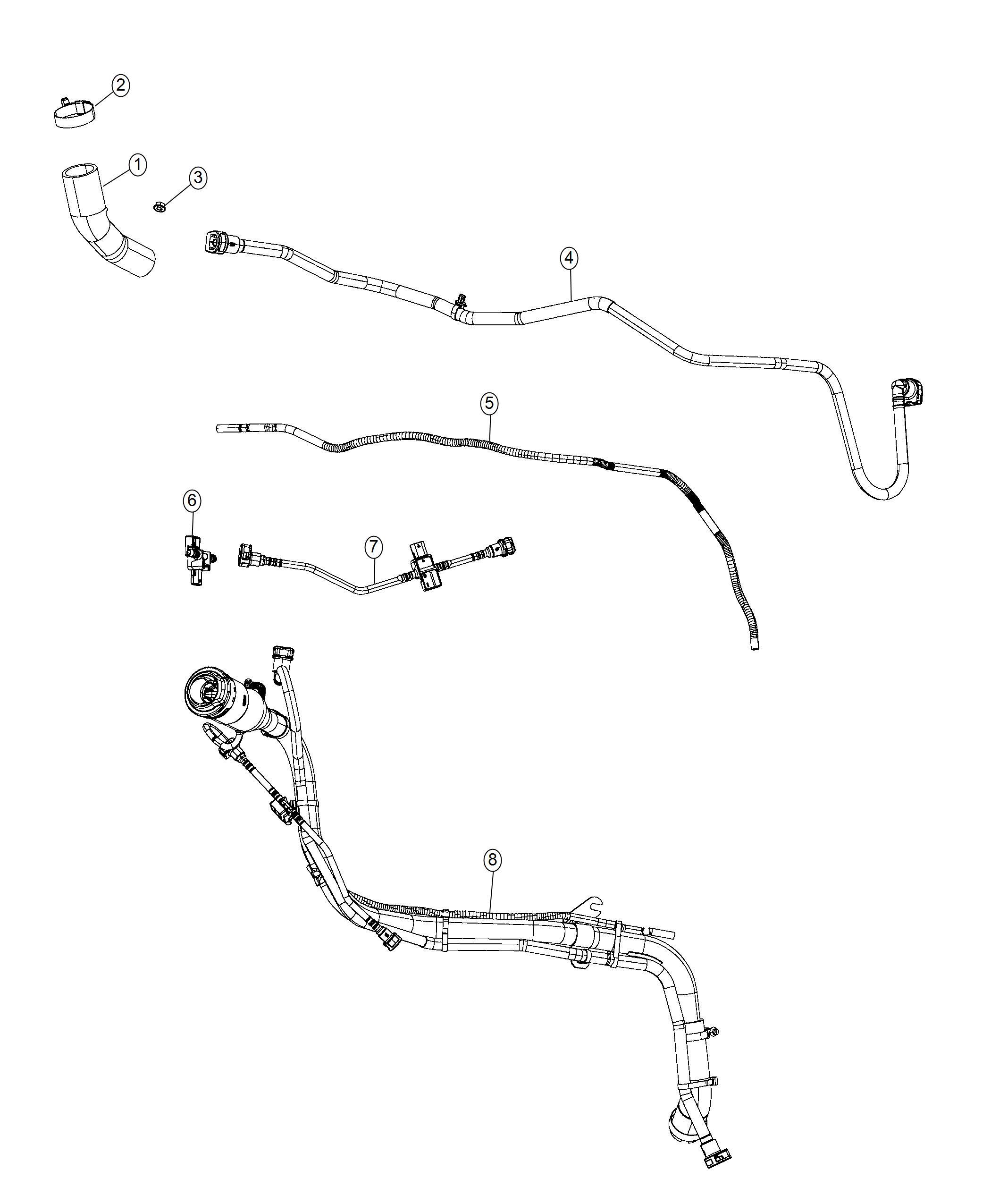 Chrysler Pacifica Hose Fuel Vapor Canister To Rail
