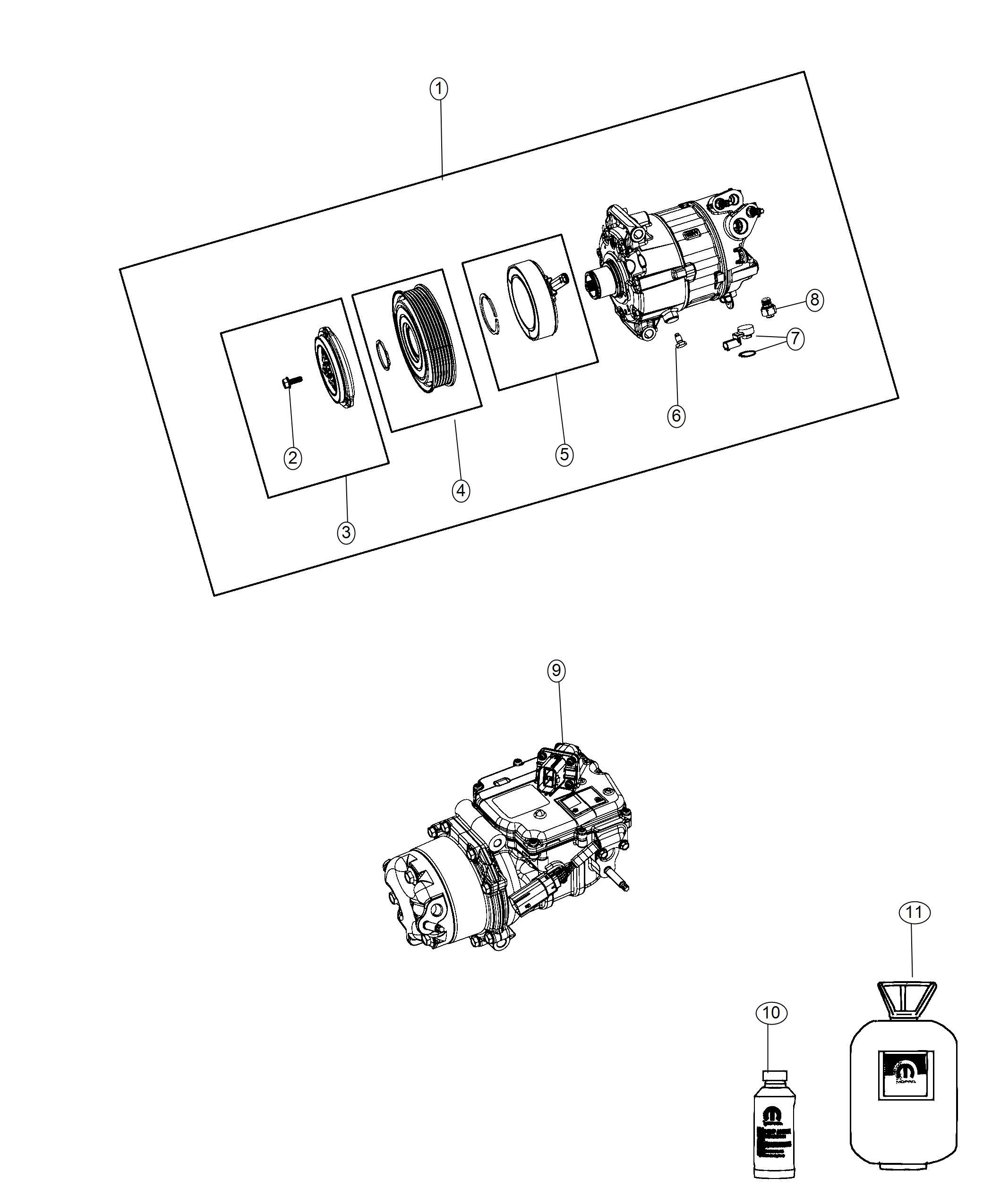 Chrysler Pacifica L Hybrid Compressor Air