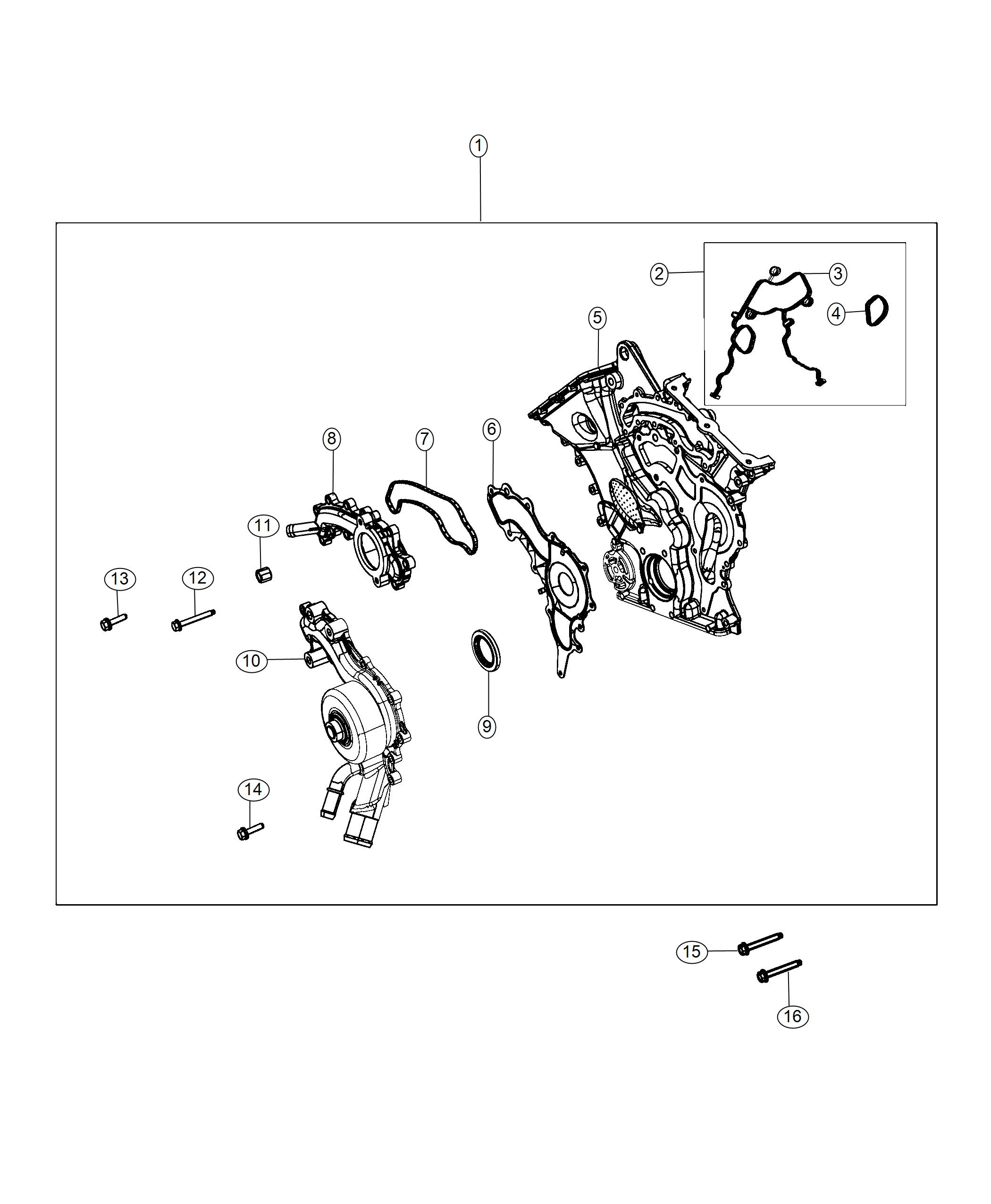 Chrysler Pacifica Gasket Kit Chain Case Cover Engine