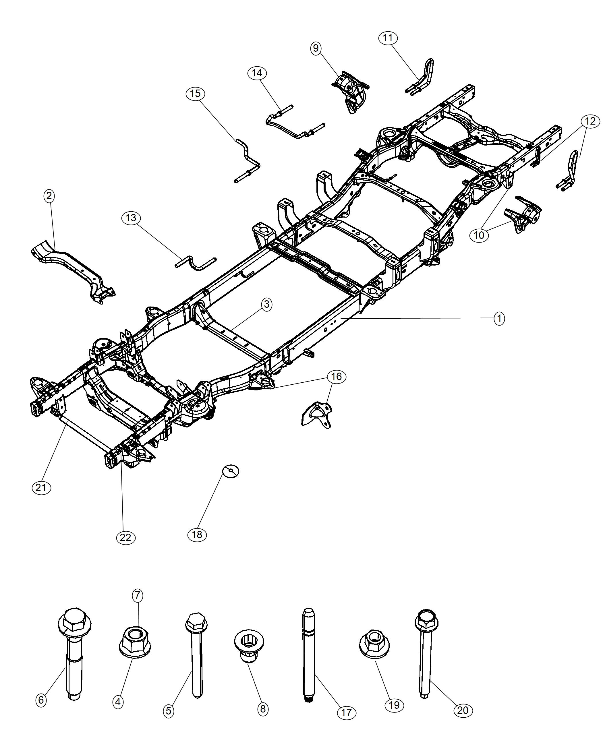 Ram Frame Assembly Chassis Engine Vvt Spd