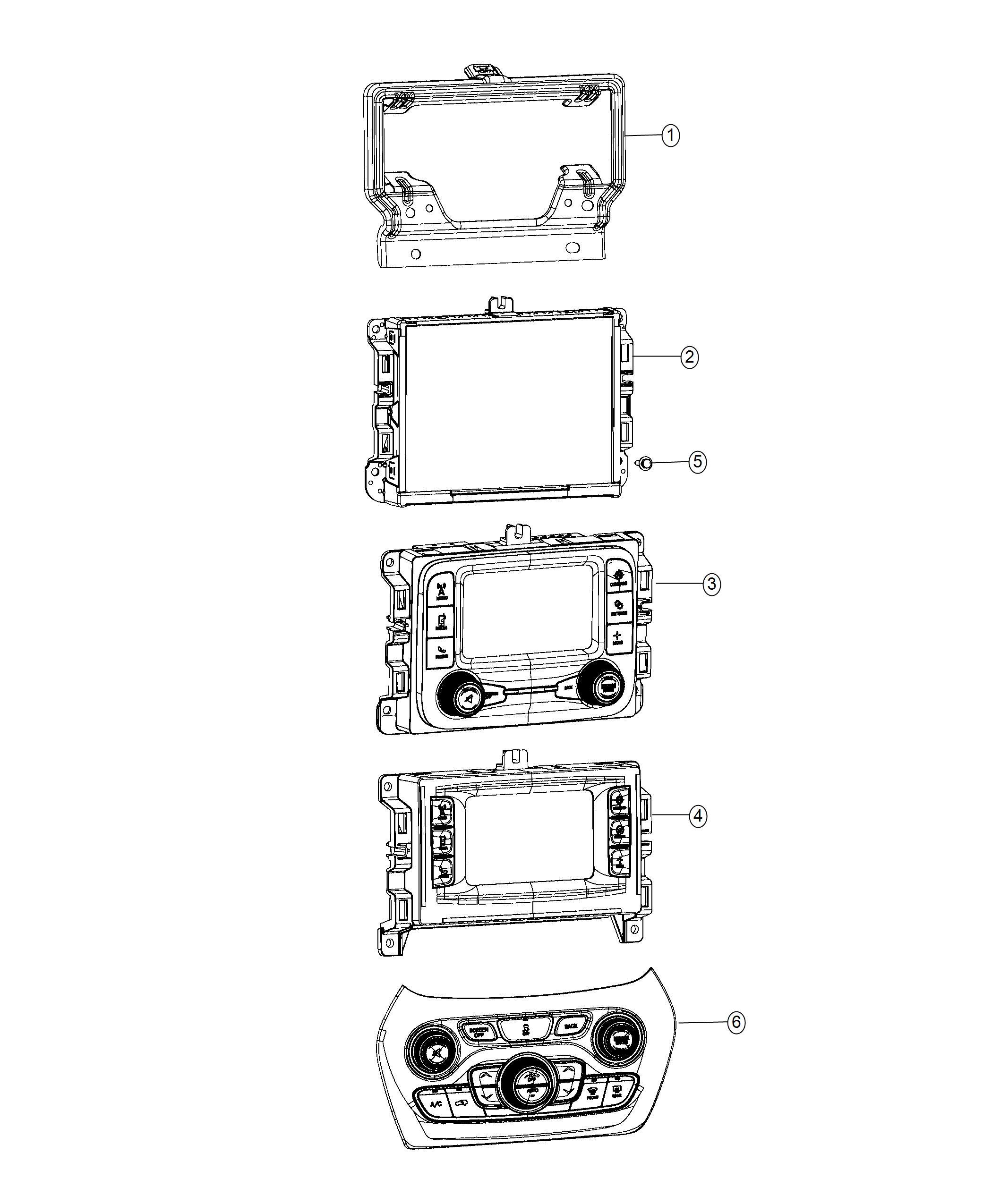 Jeep Cherokee Radio Multi Media Instrument Panel Parts