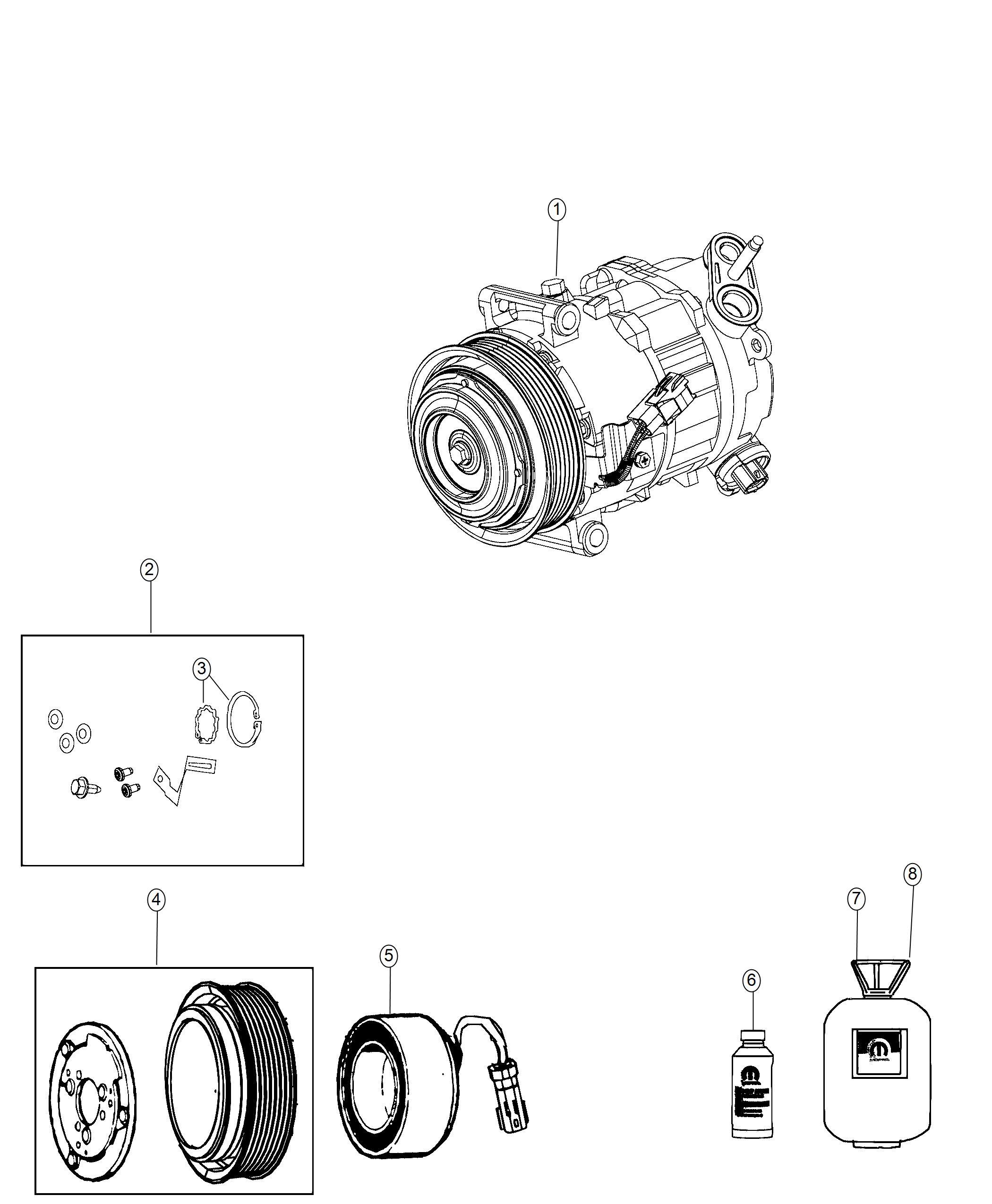 Jeep Cherokee Coil Stator A C Compressor Clutch Air