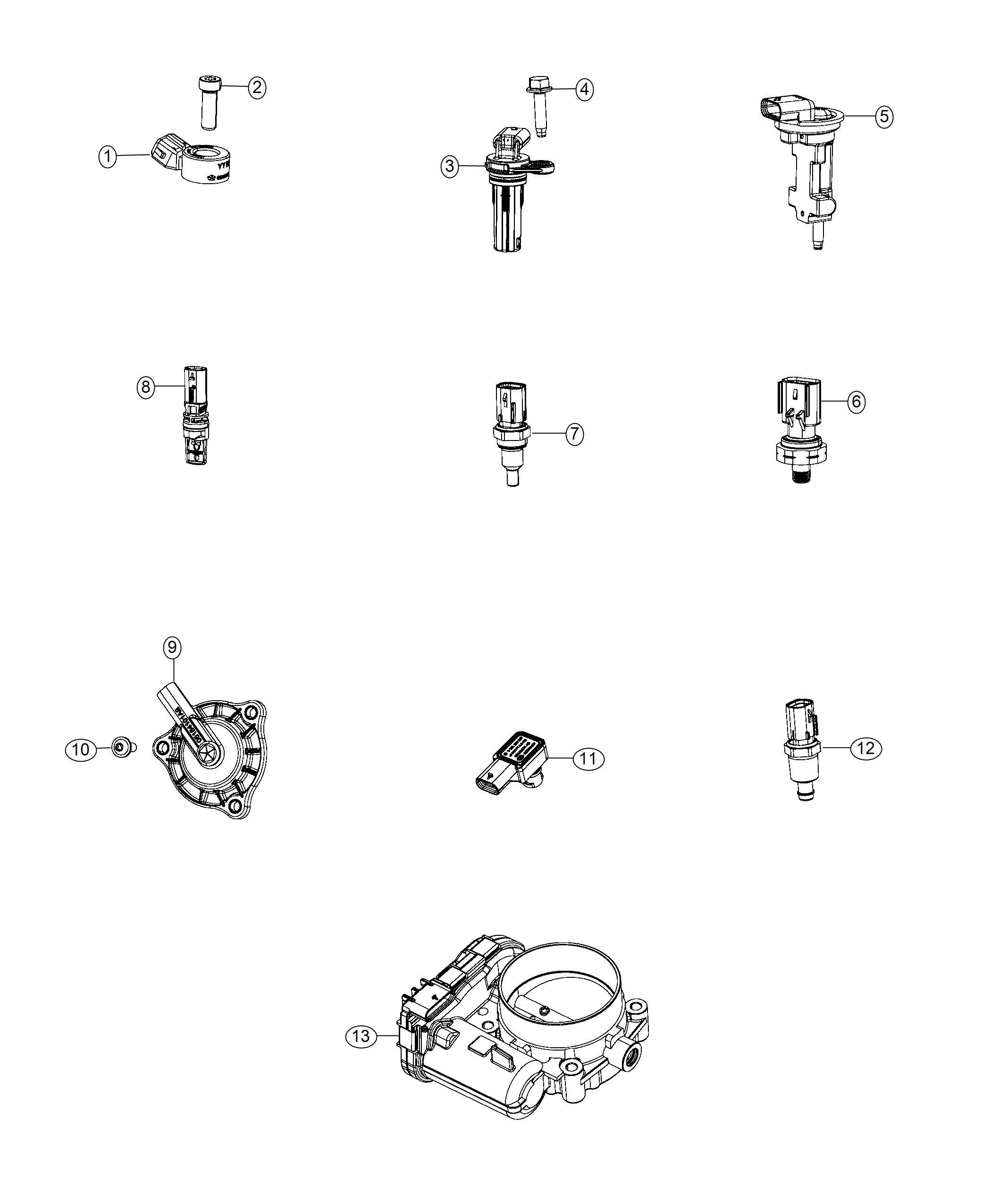 Dodge Journey Sensor Fluid Temperature Head Cylinder