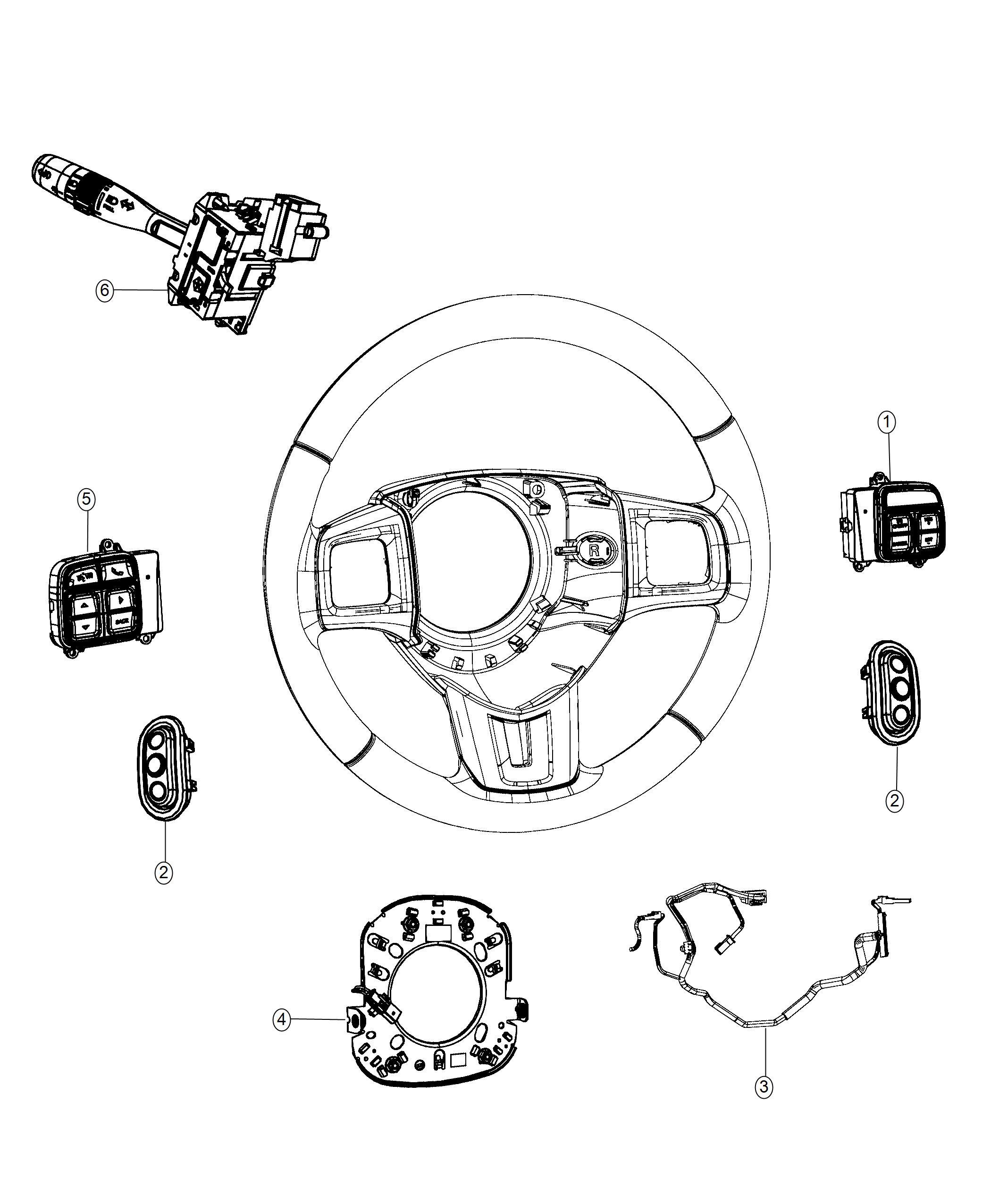 Dodge Journey Wiring Steering Wheel Trim No