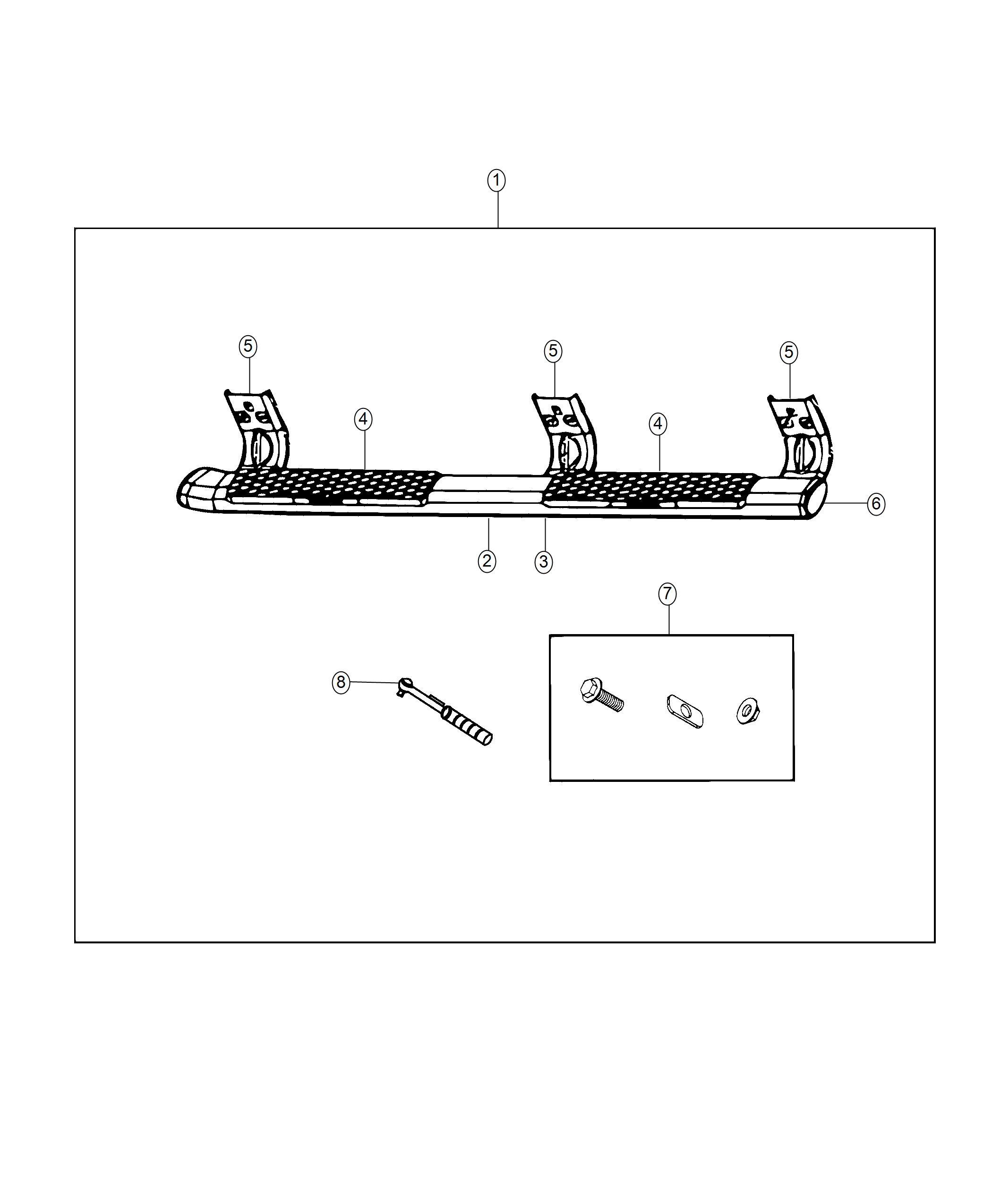 Ram Step Kit Tubular Side Right