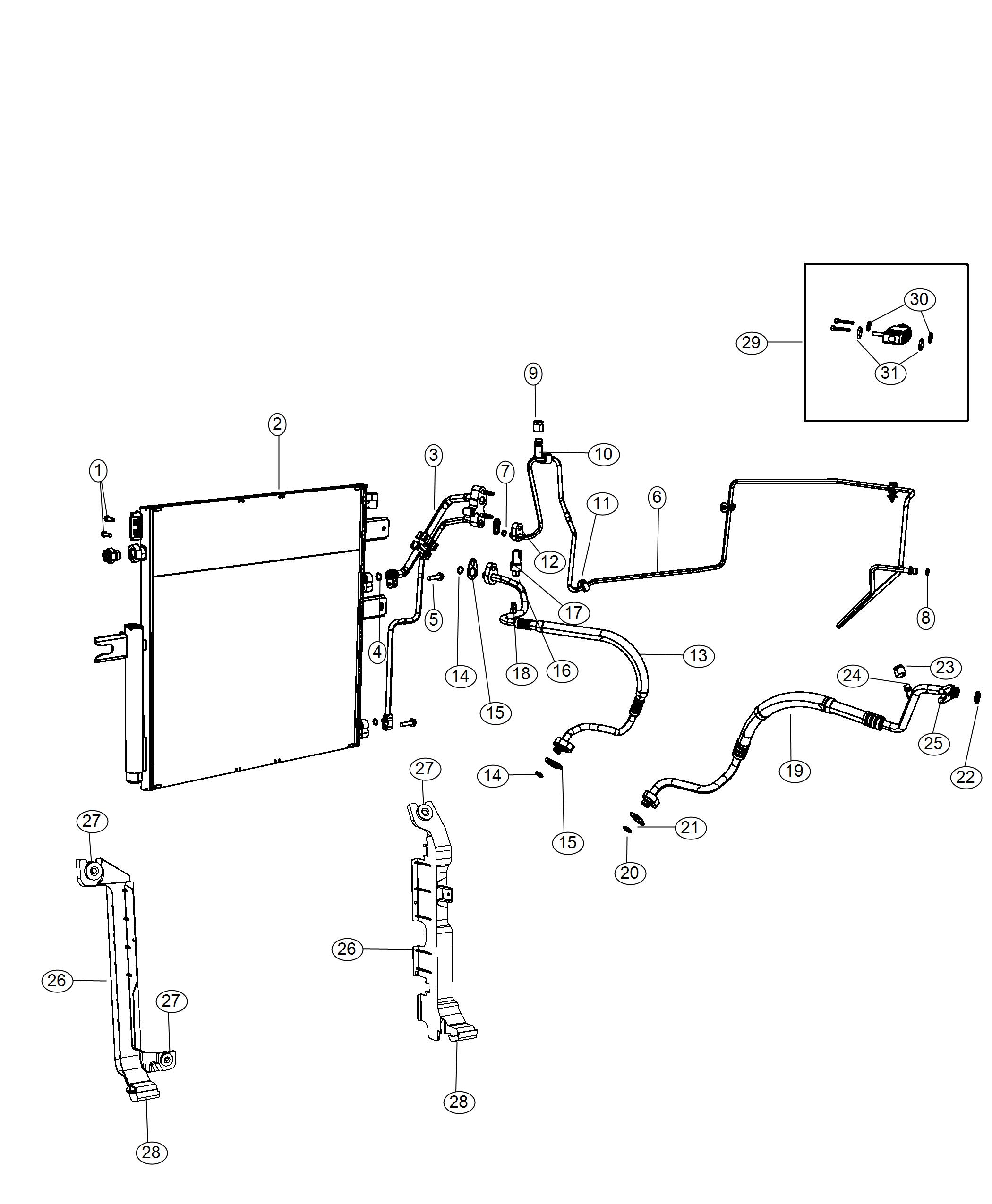 Ram Bracket Radiator To Condenser Right Front