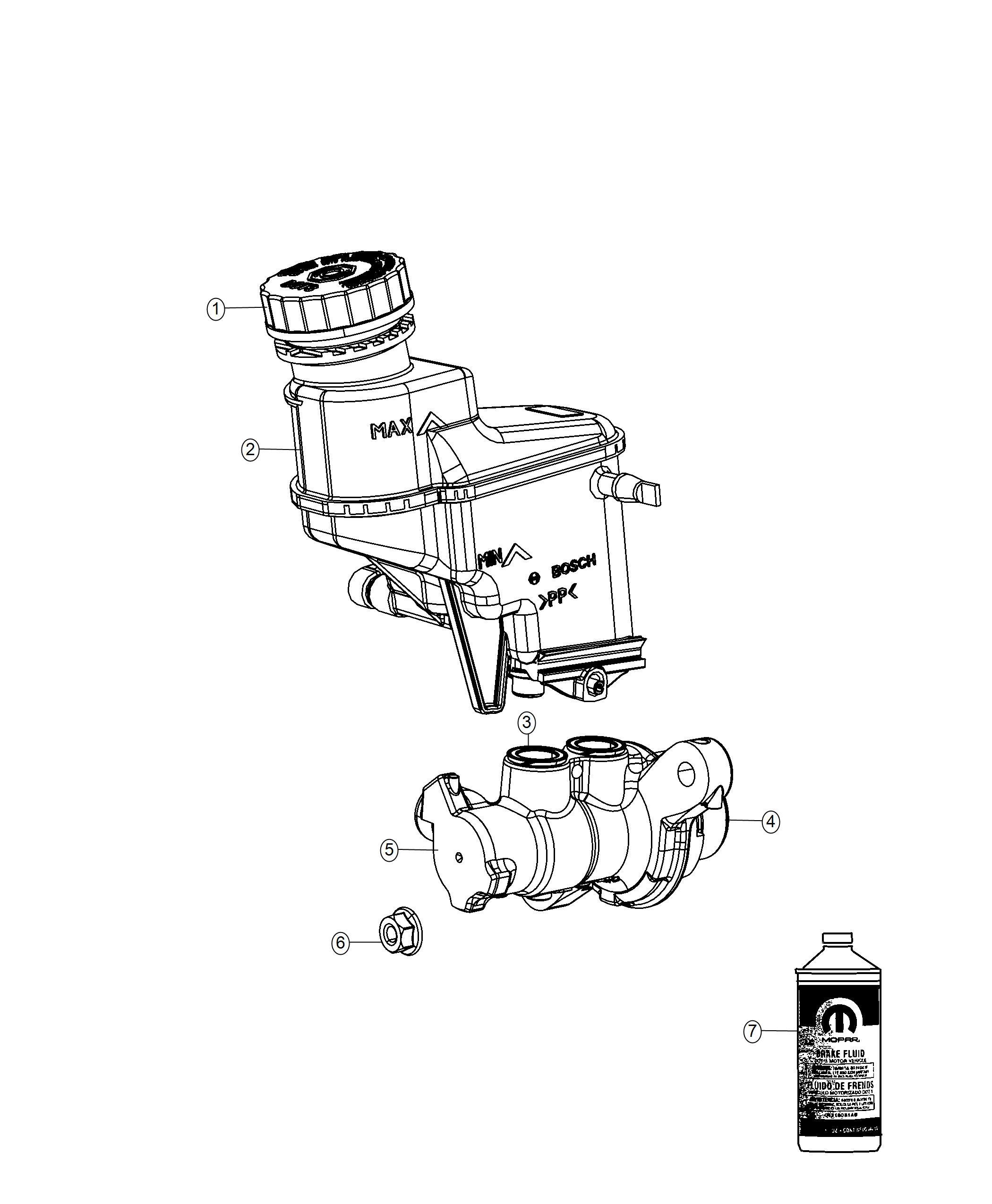 Fiat 500l Master Cylinder Brake Export Mexico 6 Spd