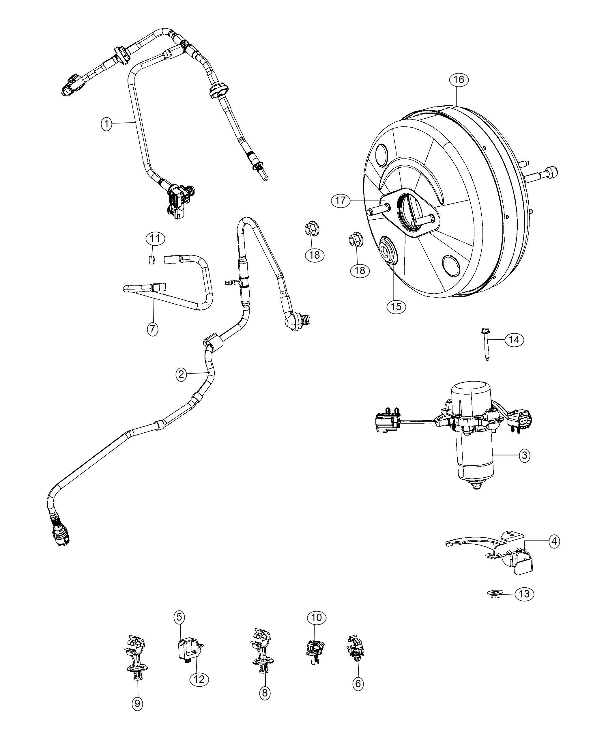 Dodge Ram Hose Brake Booster Vacuum Connector