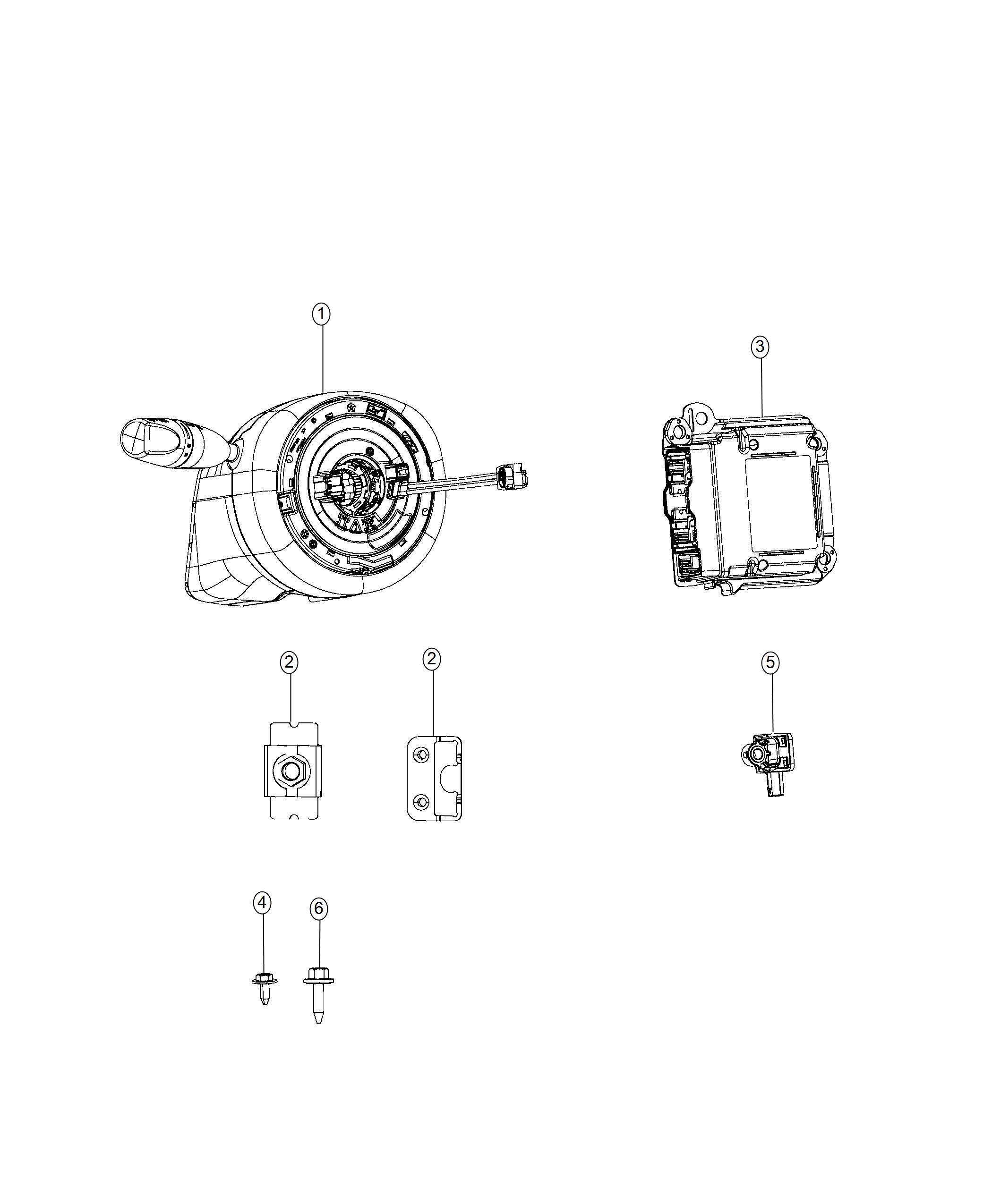 Chrysler 300 Module Occupant Restraint Export Frt