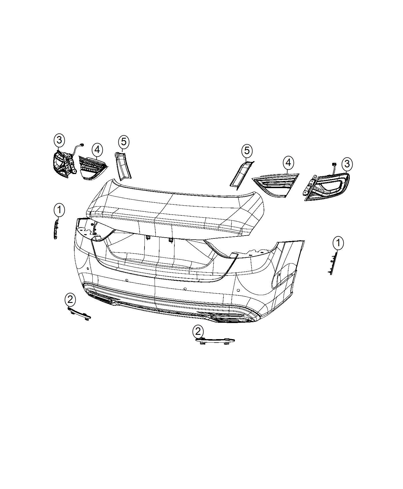 Chrysler 200 Bezel Reflector Fascia Right Front Fascias Parts Module Side Marker