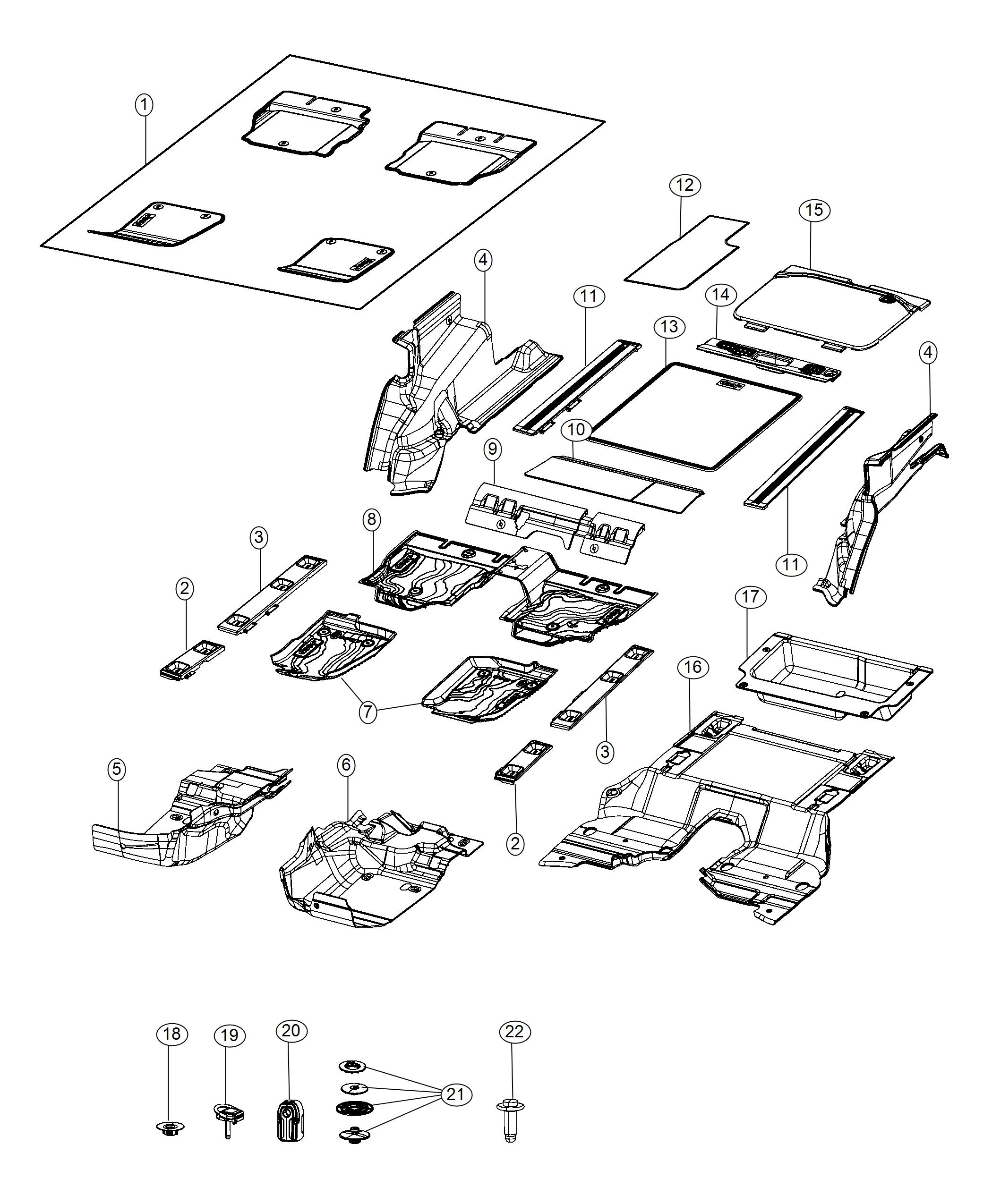 Jeep Wrangler Panel Load Floor Right Trim No