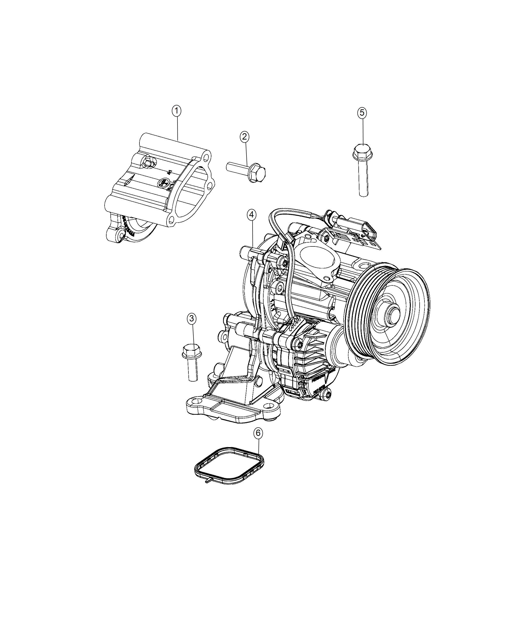 Jeep Wrangler Gasket Water Pump