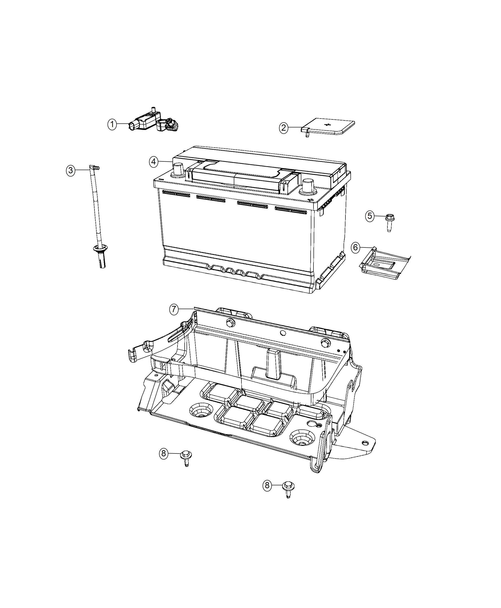 Dodge Charger Sensor Battery Stop Start Multiple Vsm