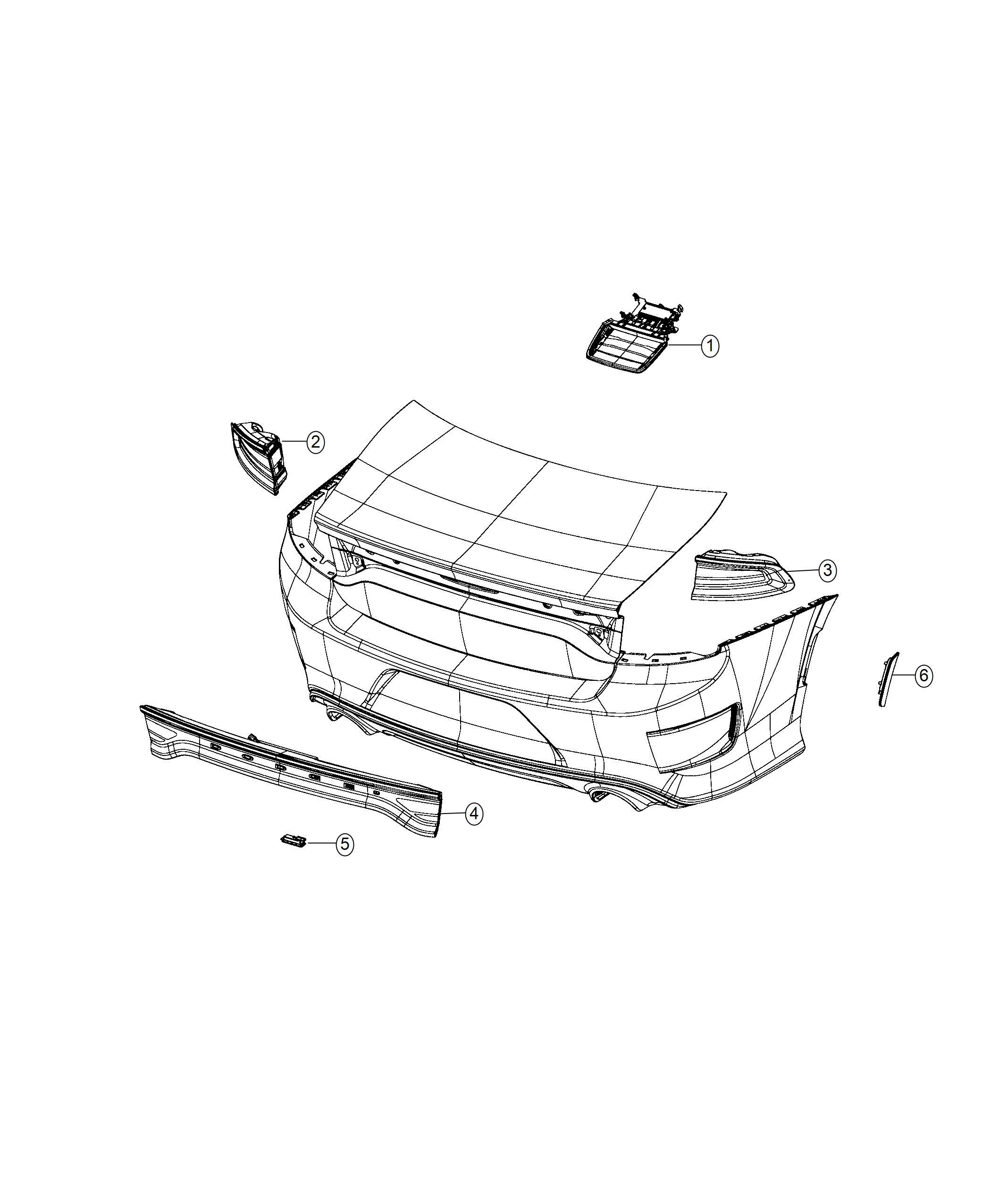 Dodge Charger Lamp Side Marker Left Rear Fascias Parts