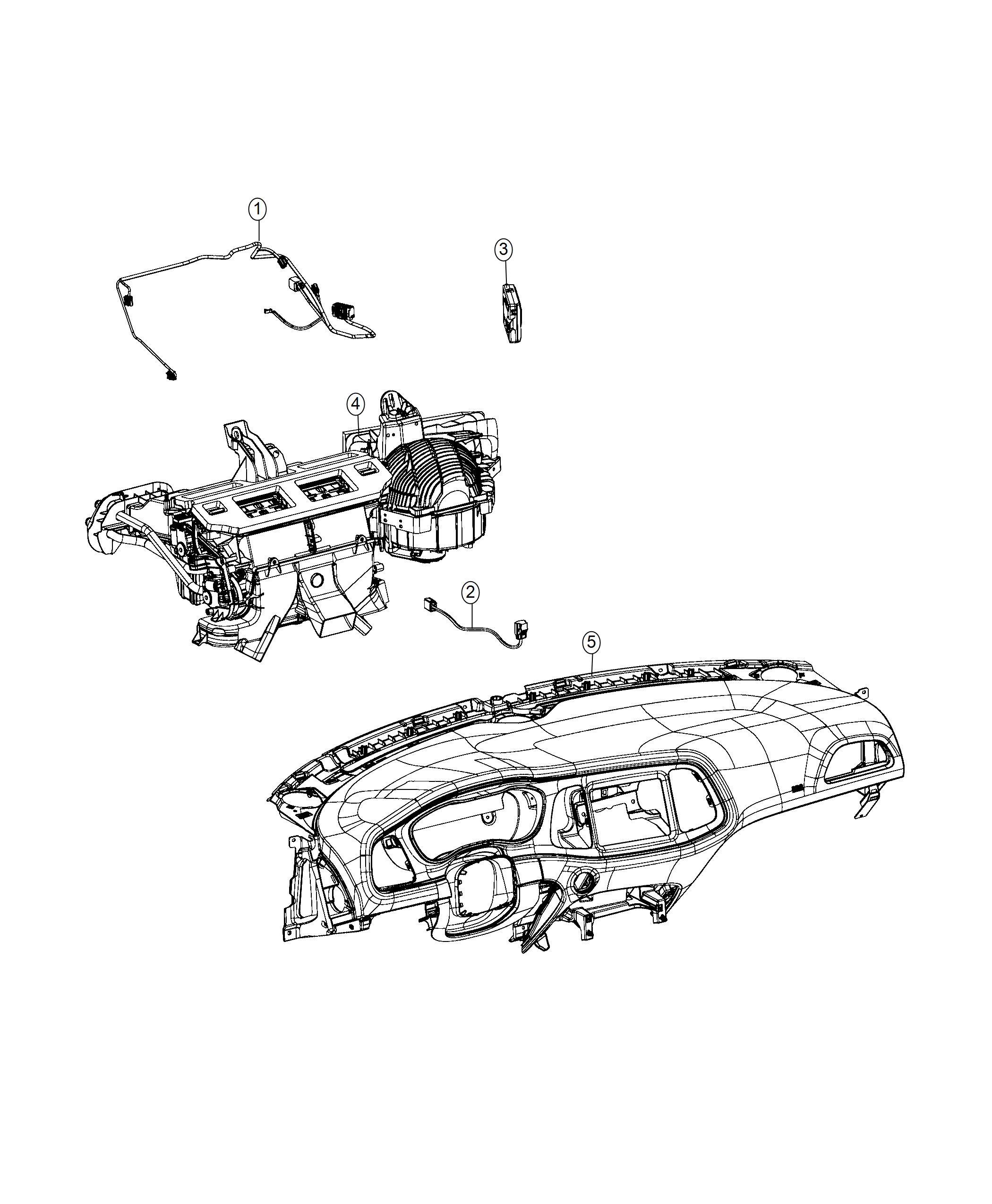 Dodge Challenger Wiring Jumper Blower Motor Panel