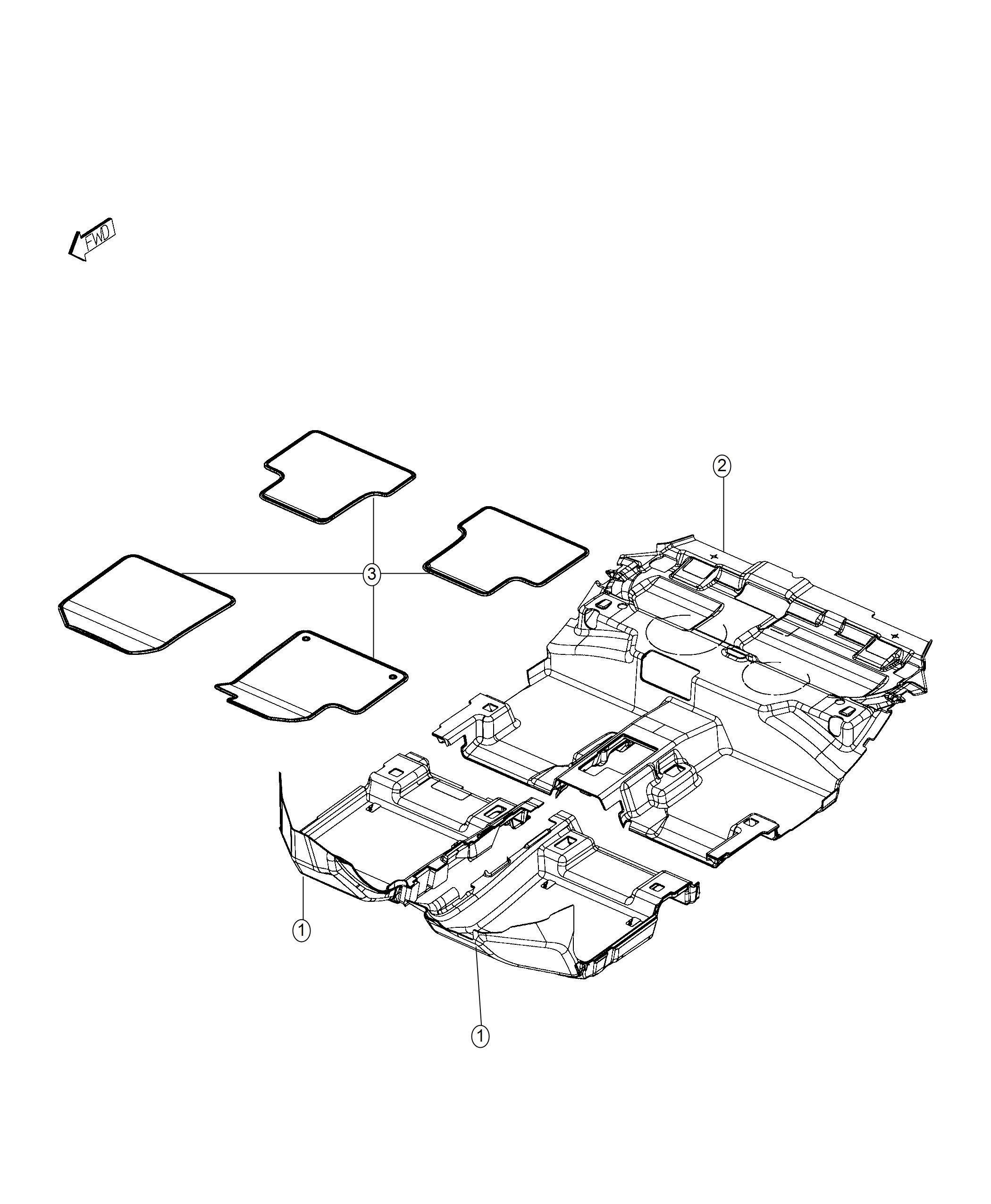 Dodge Journey Mat Kit Floor Front And Rear Floor Mats