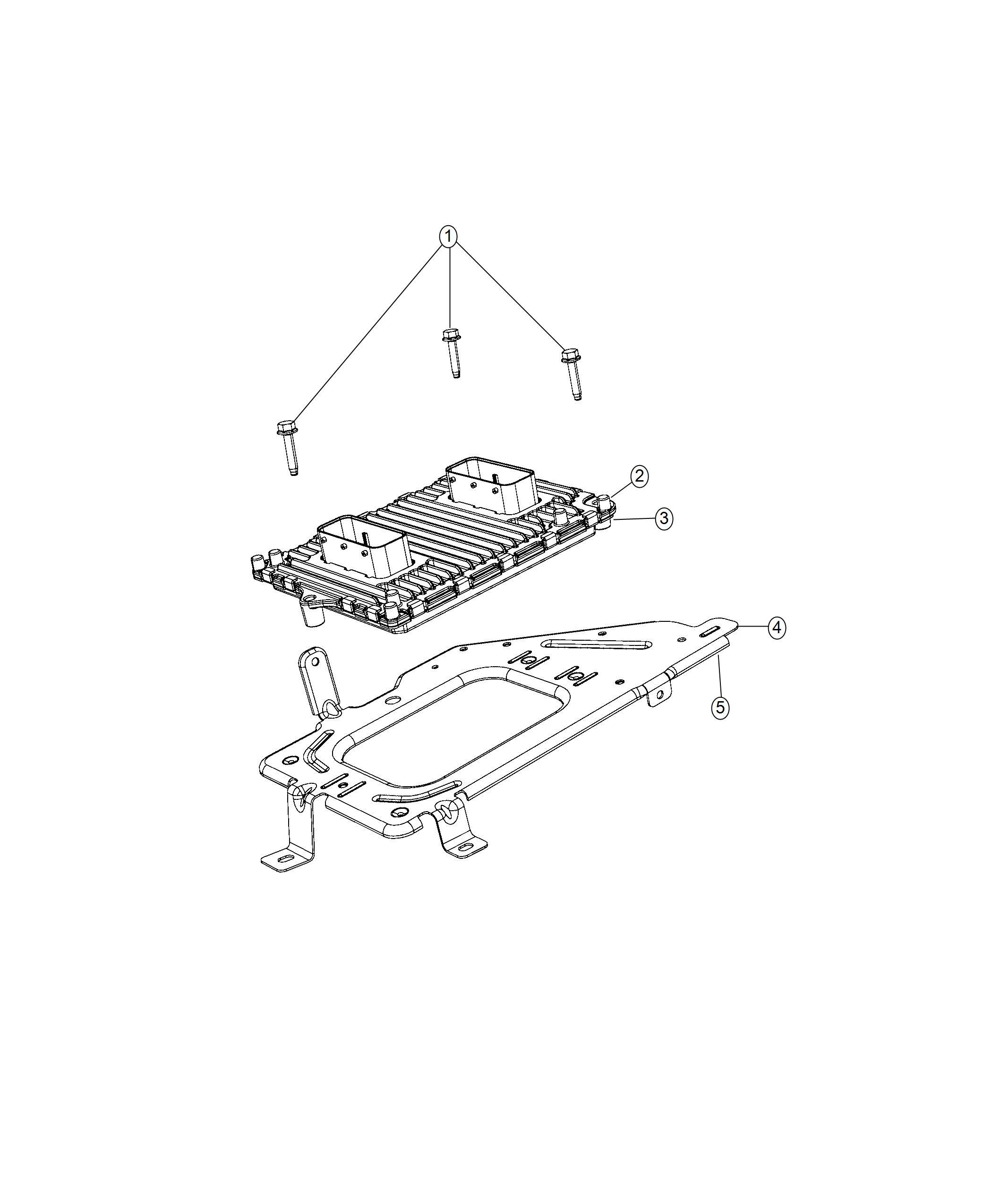 Ram Bracket Powertrain Control Module