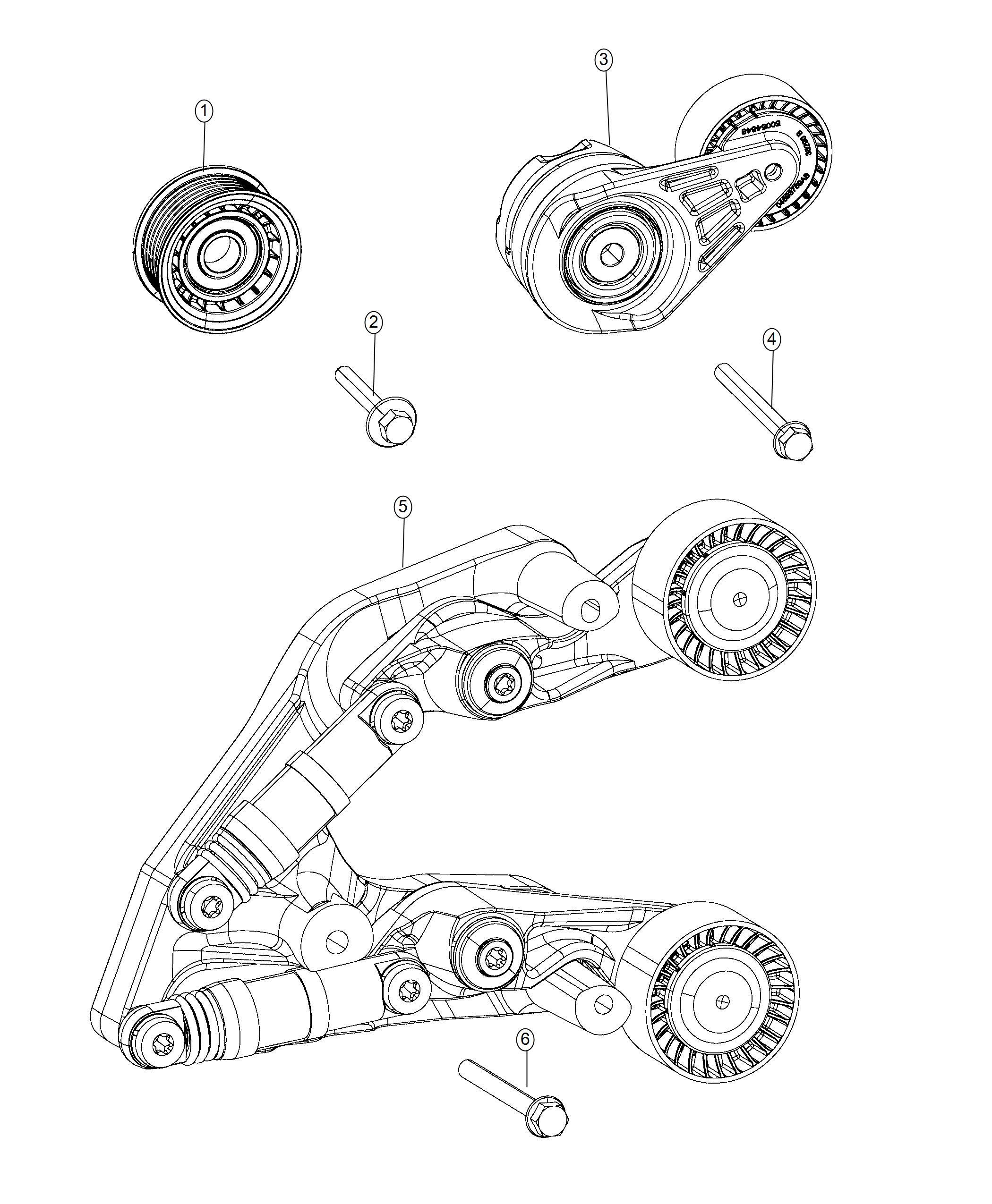 Jeep Wrangler Tensioner Belt Related Pulleys Fca