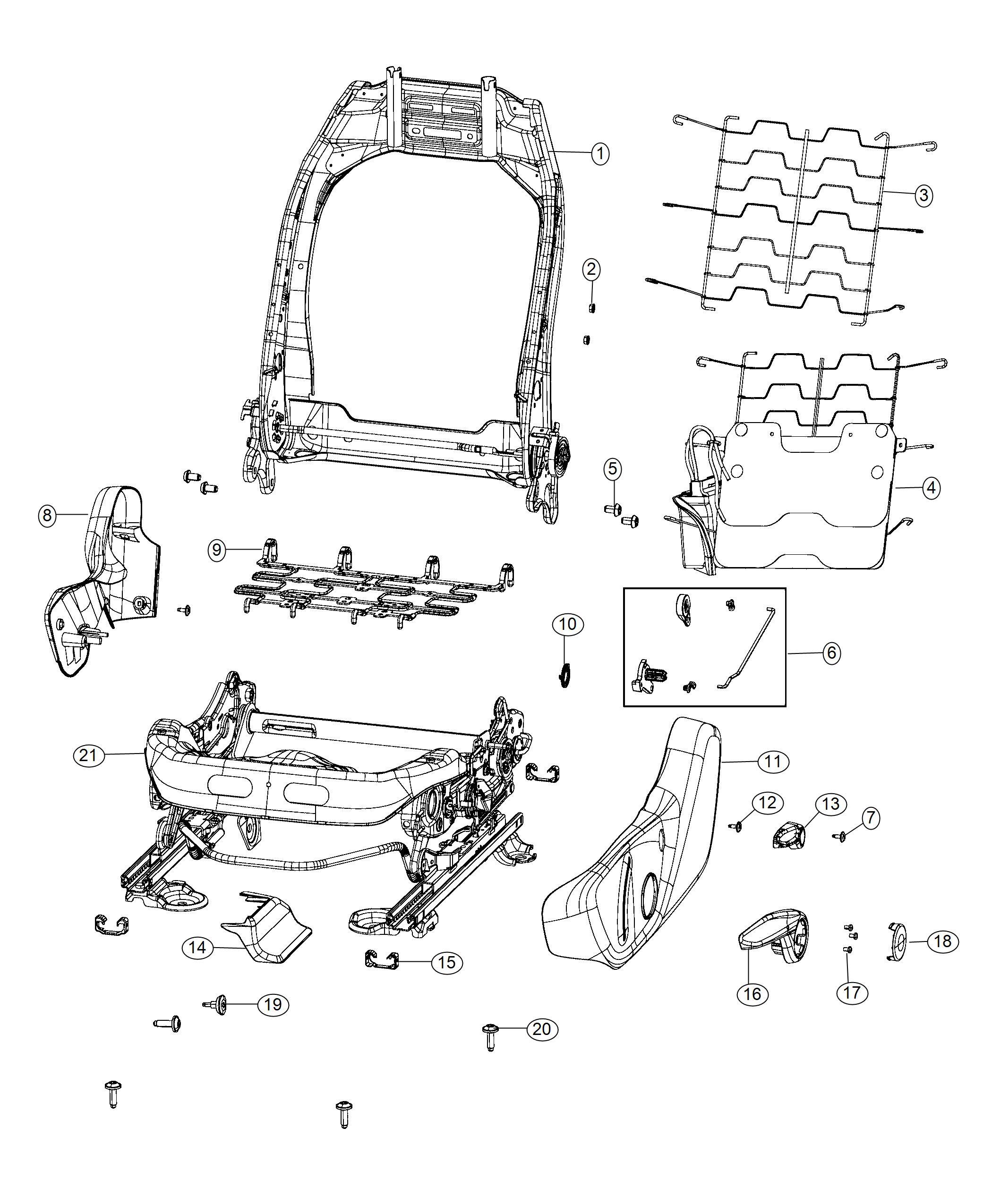 Jeep Compass Shield Front Seat Trim No Description Available Color Black