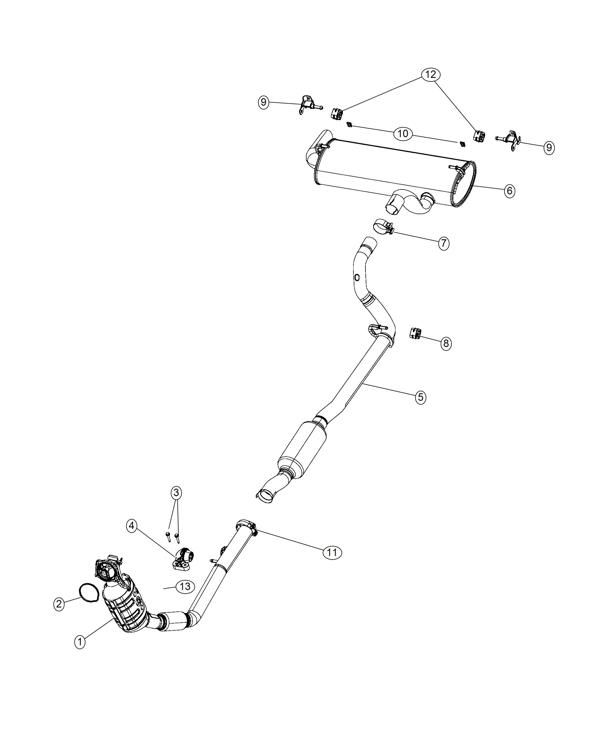 Jeep Wrangler Bracket Exhaust Gasoline Particulate