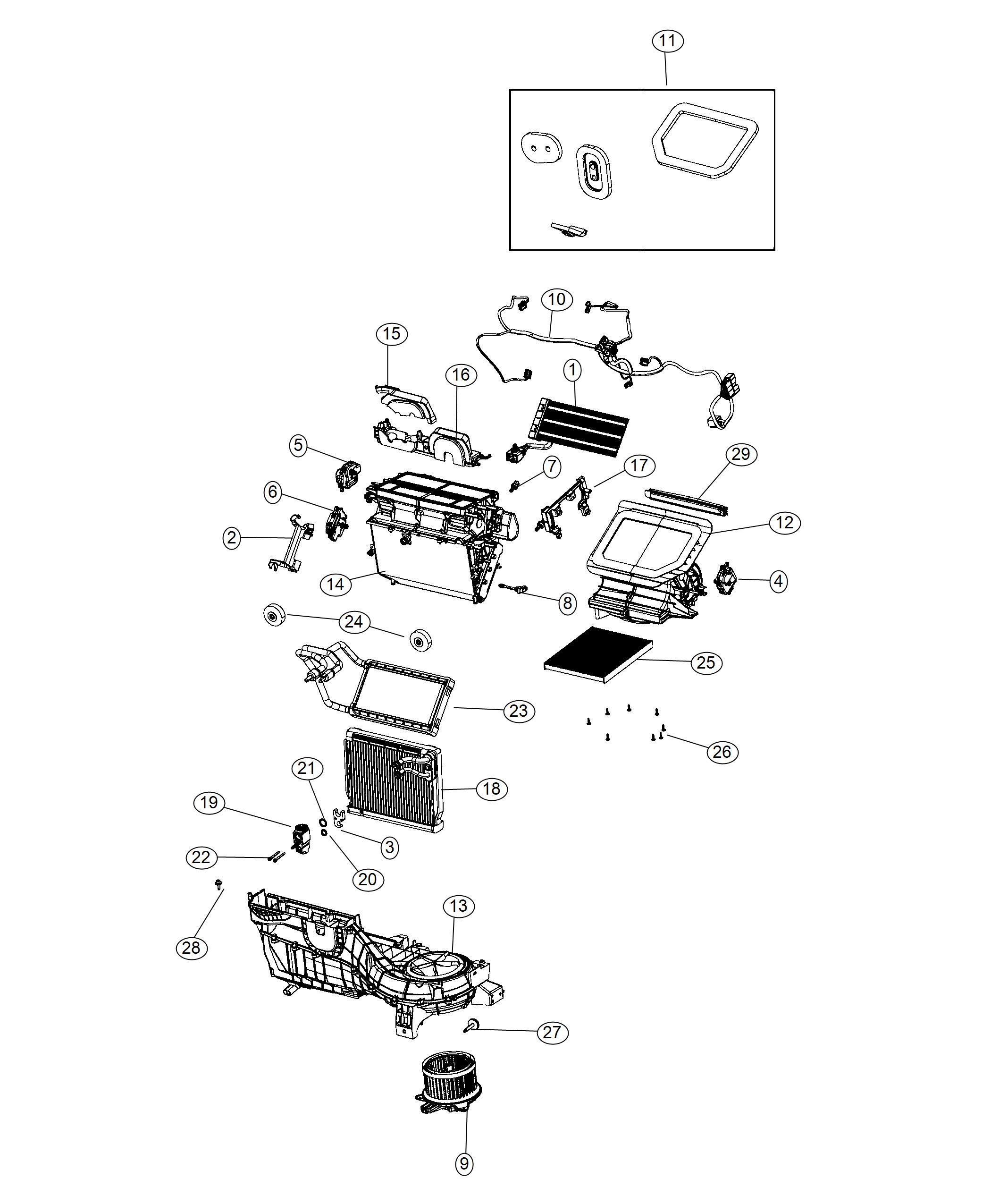 Jeep Wrangler Evaporator Air Conditioning