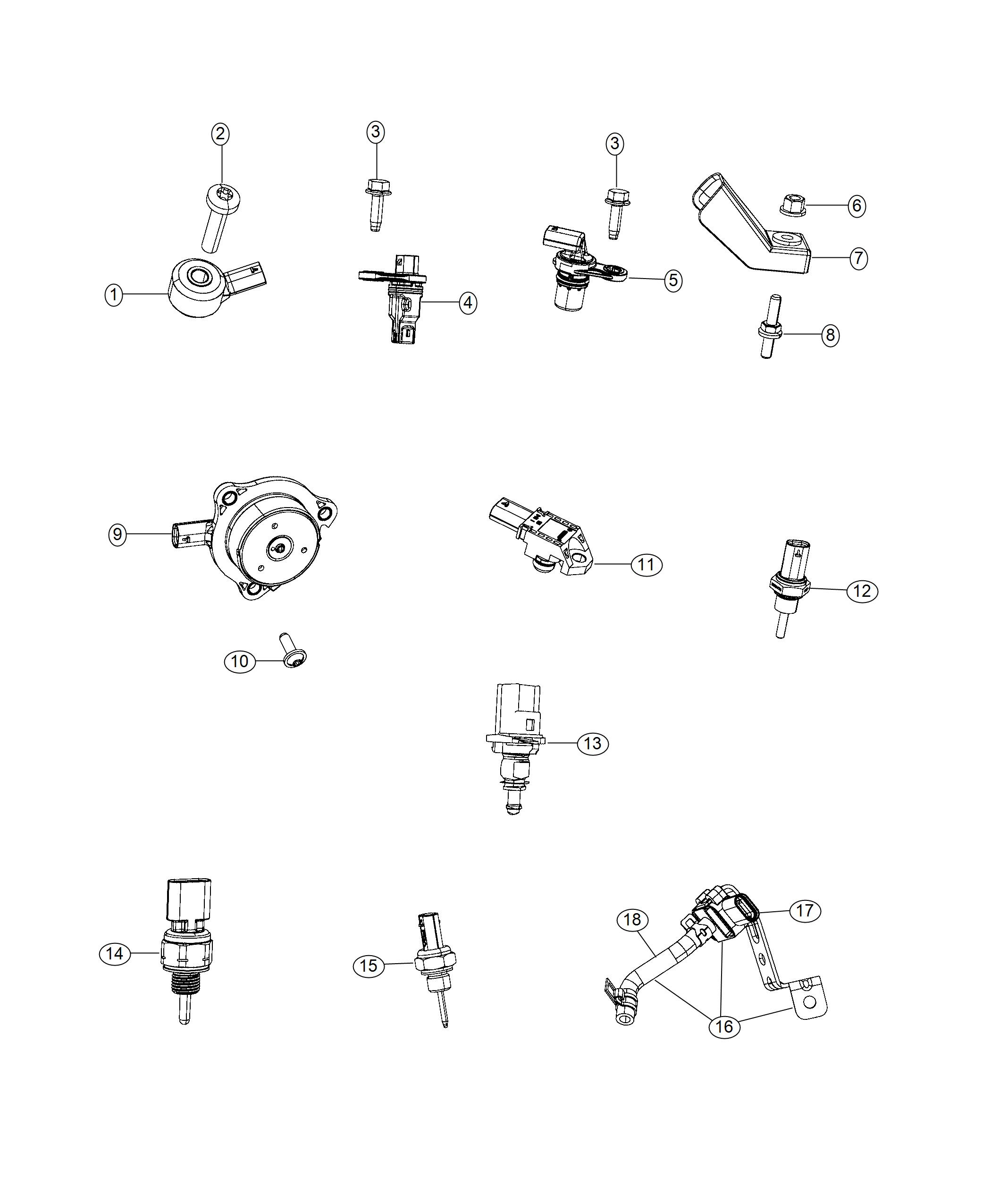 Jeep Wrangler Sensor Crankcase Pressure Pressure Sensor