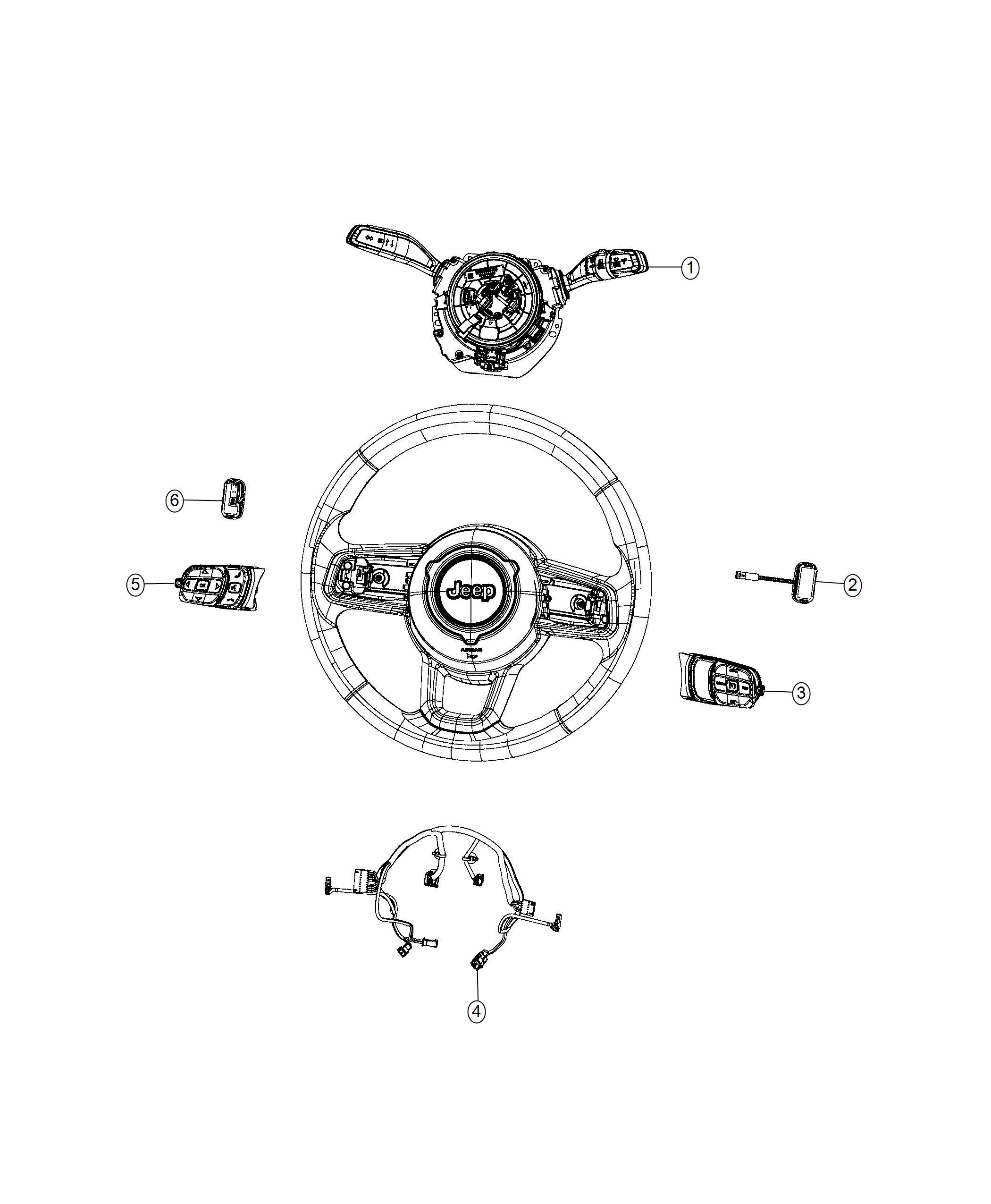 Jeep Wrangler Module Steering Column Export Instrument
