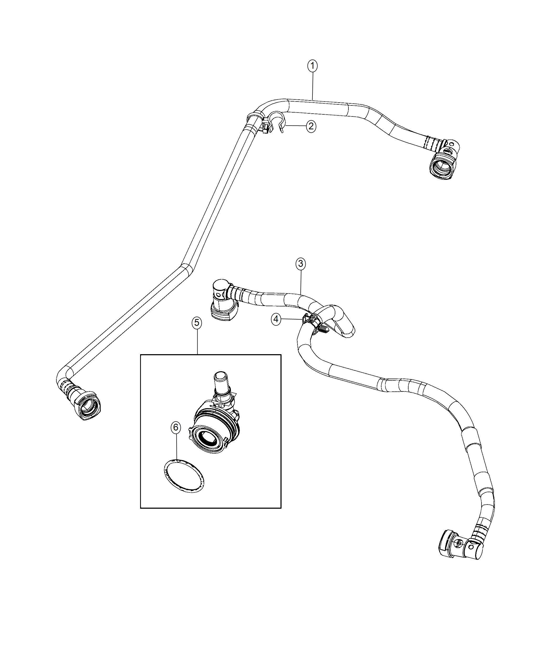 Jeep Wrangler Tube Pcv Valve Crankcase Ventilation Fca