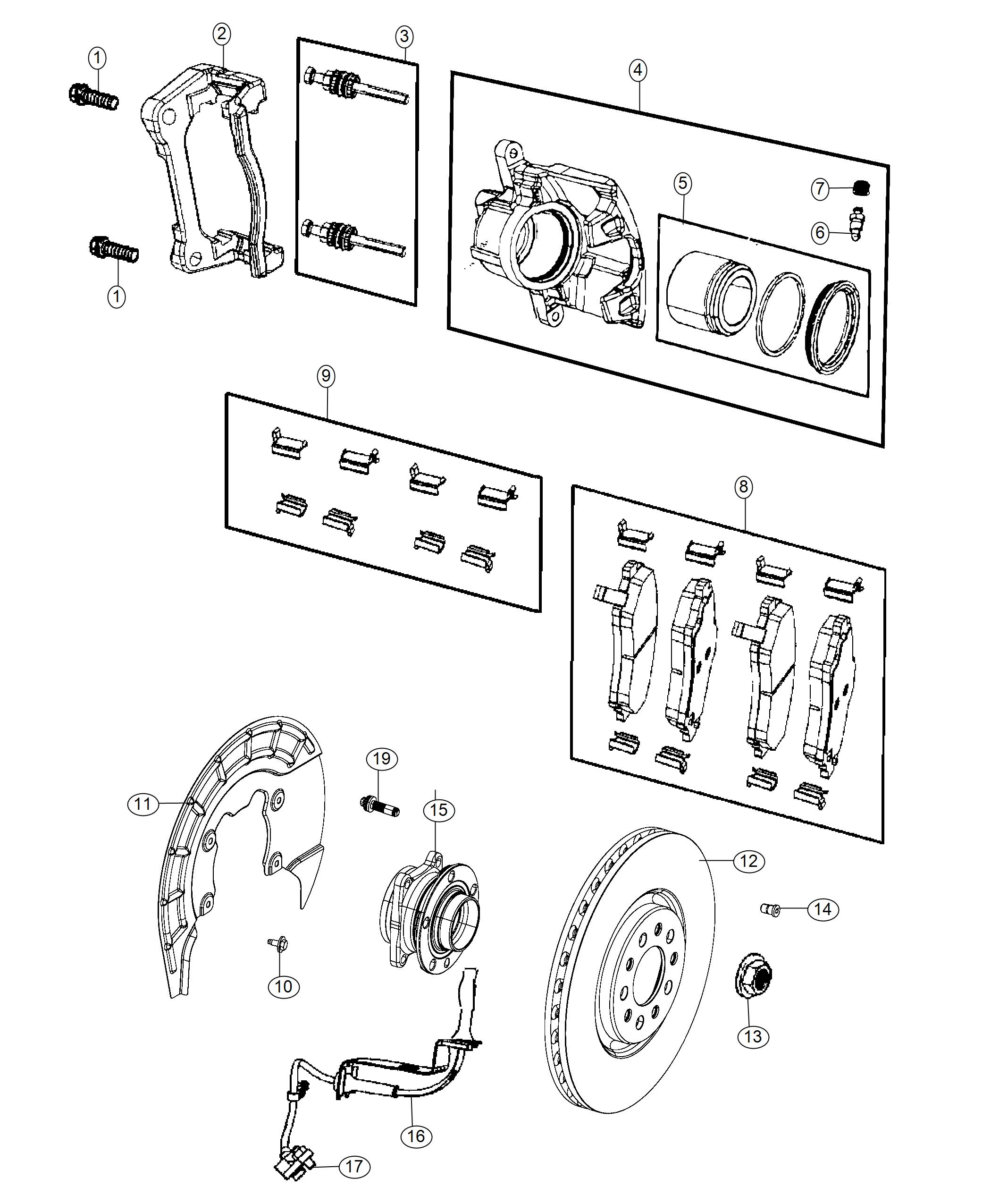Jeep Cherokee Pad Kit Front Disc Brake Brakes Anti