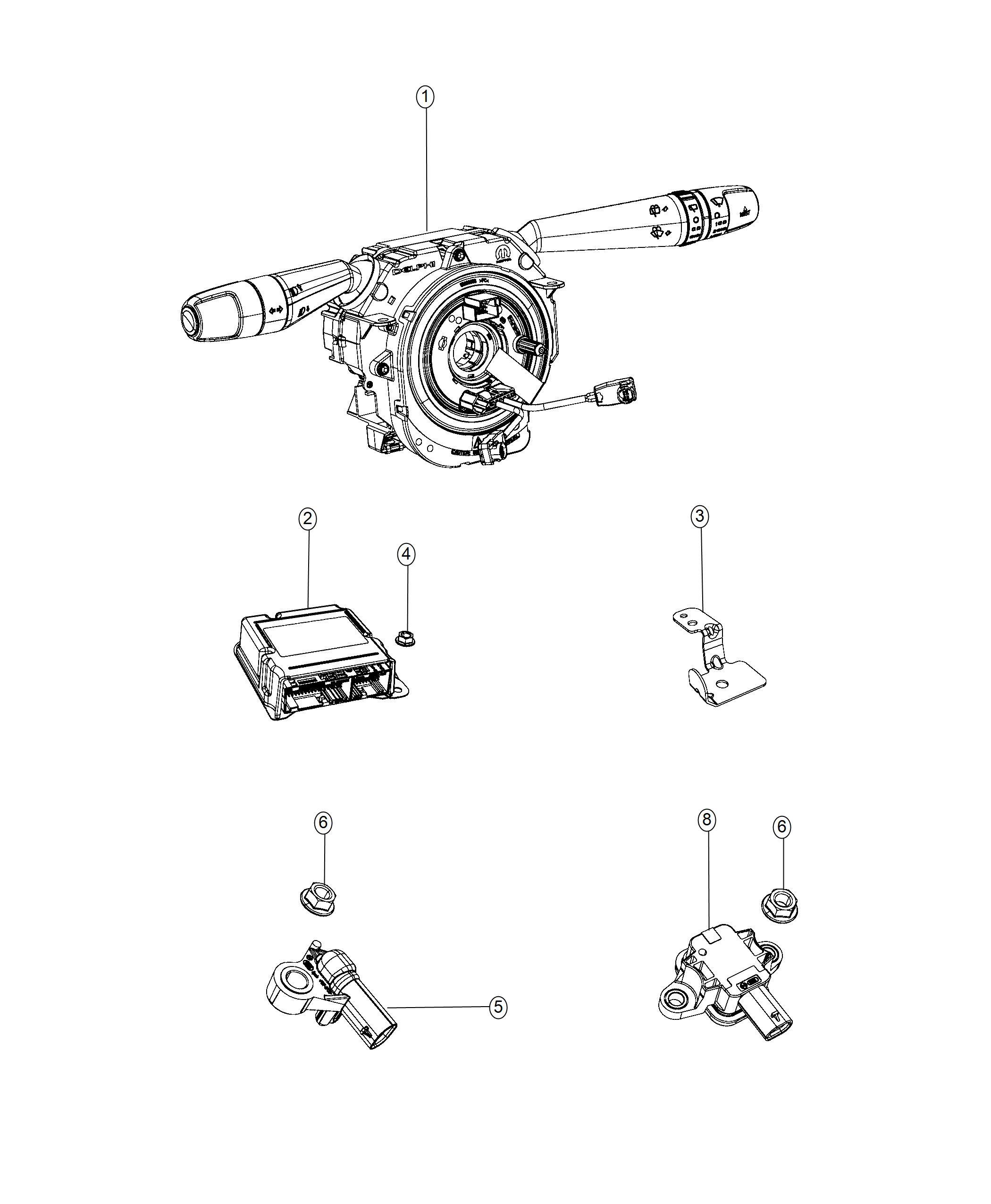Jeep Renegade Clockspring Steering Column Control