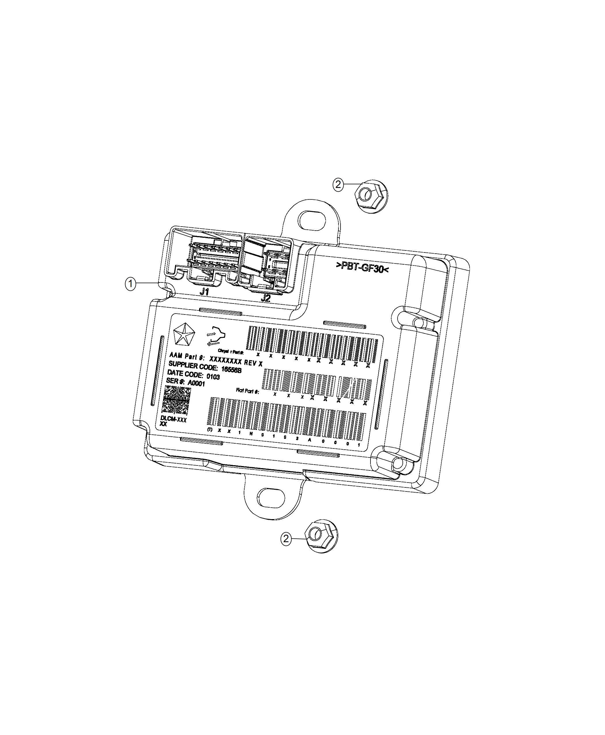 Jeep Cherokee Module Transfer Case Control Awd Single