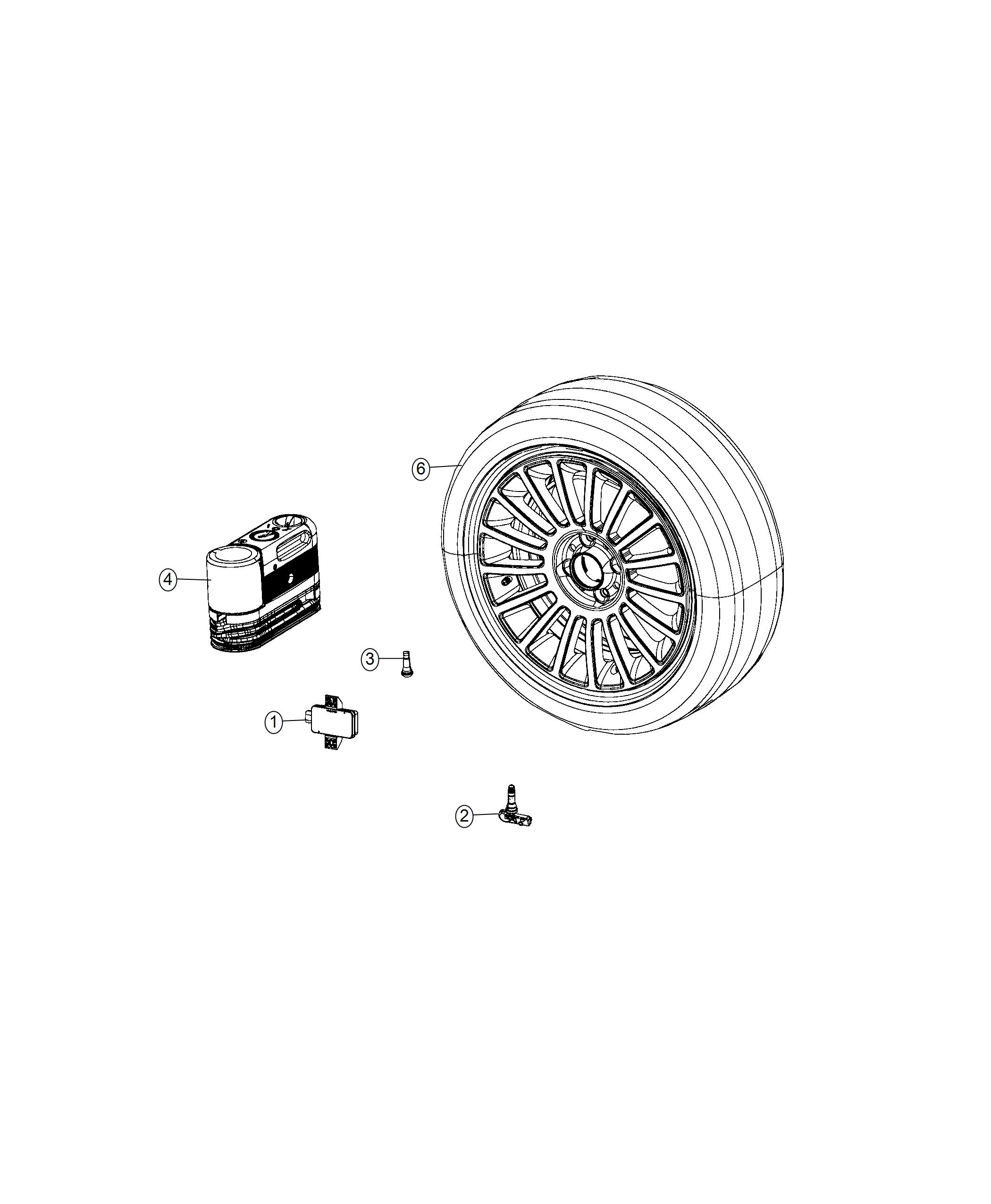 Fiat 500c Module Tire Pressure Monitoring Tire