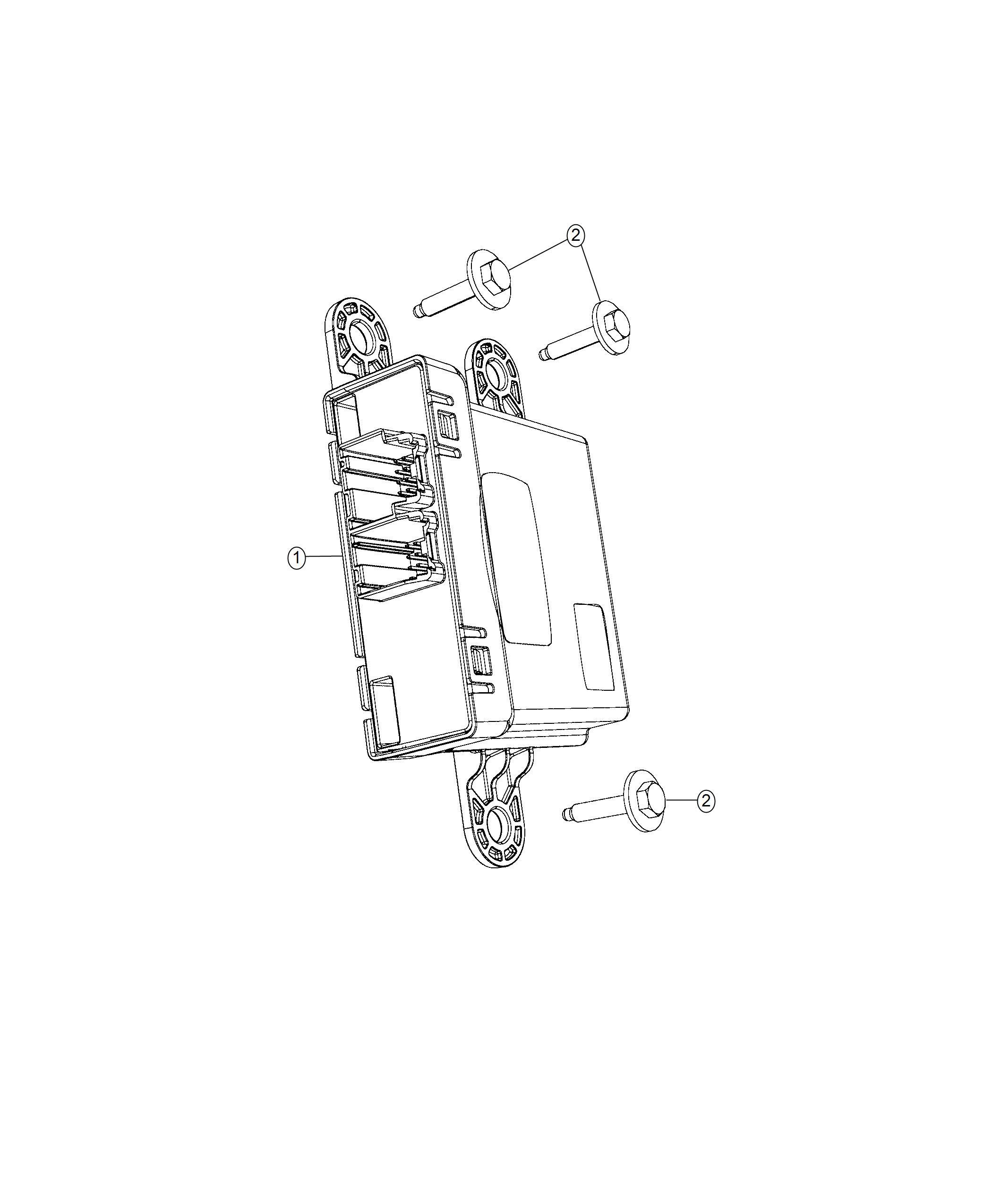 Jeep Wrangler Module Gateway Instrument Panel Parts Module X81 Ab7