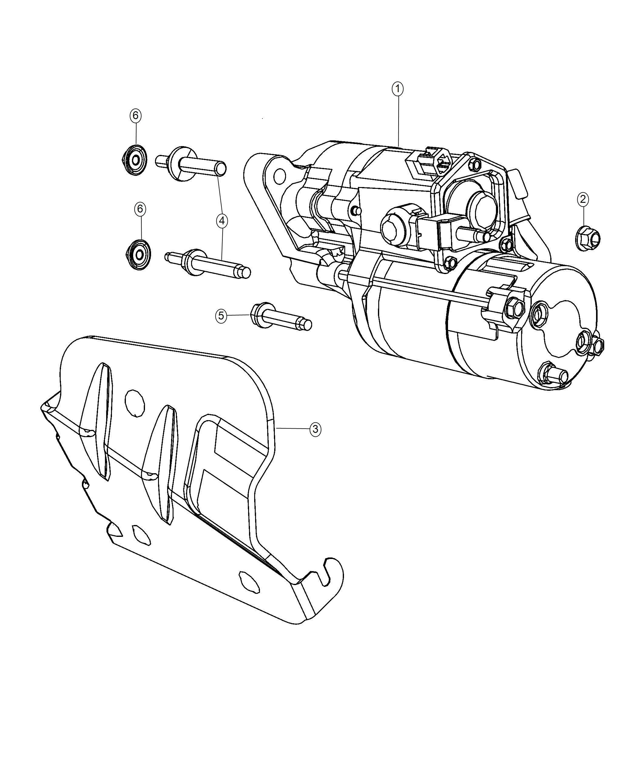 Dodge Durango Starter Engine