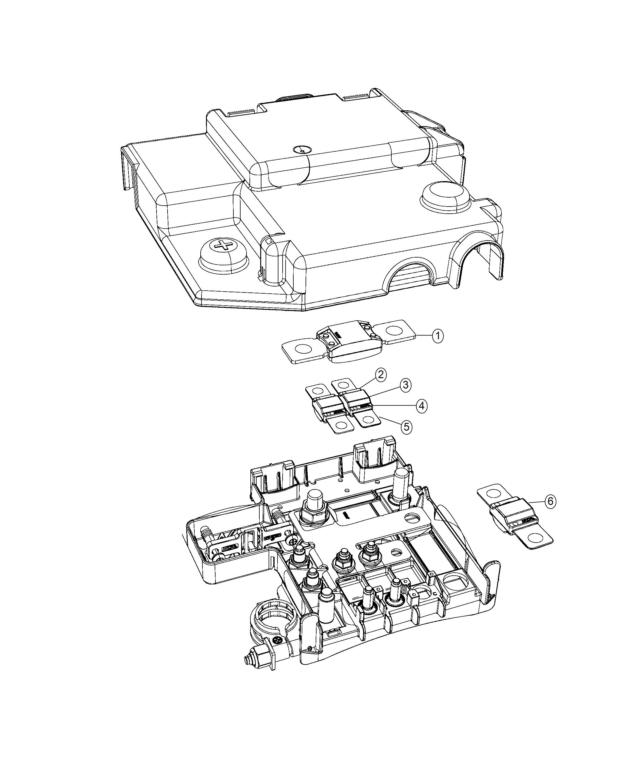 Ram Promaster City Wagon Slt Fuse Mega 150 Amp