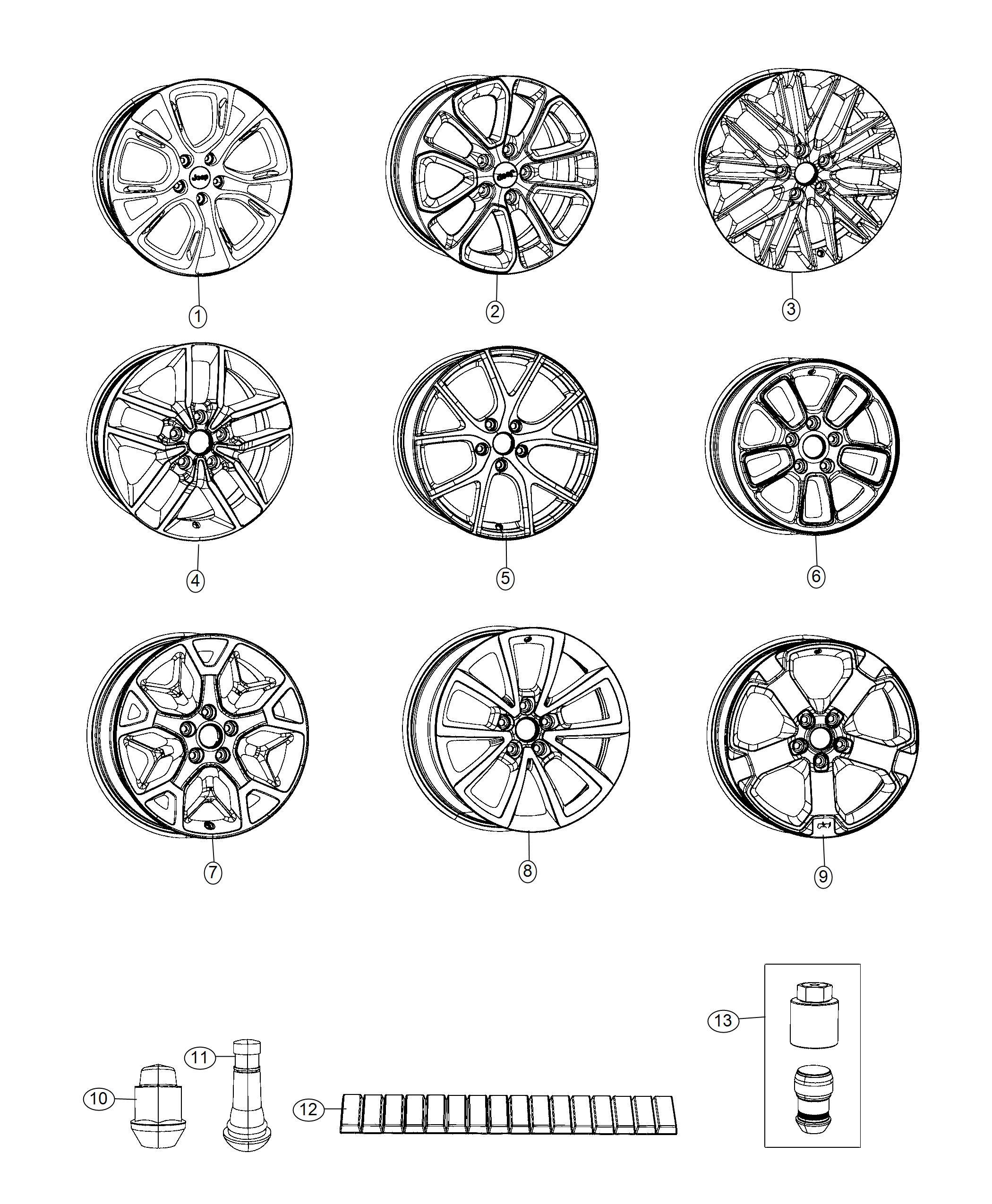 Jeep Grand Cherokee Wheel Aluminum Front Or Rear