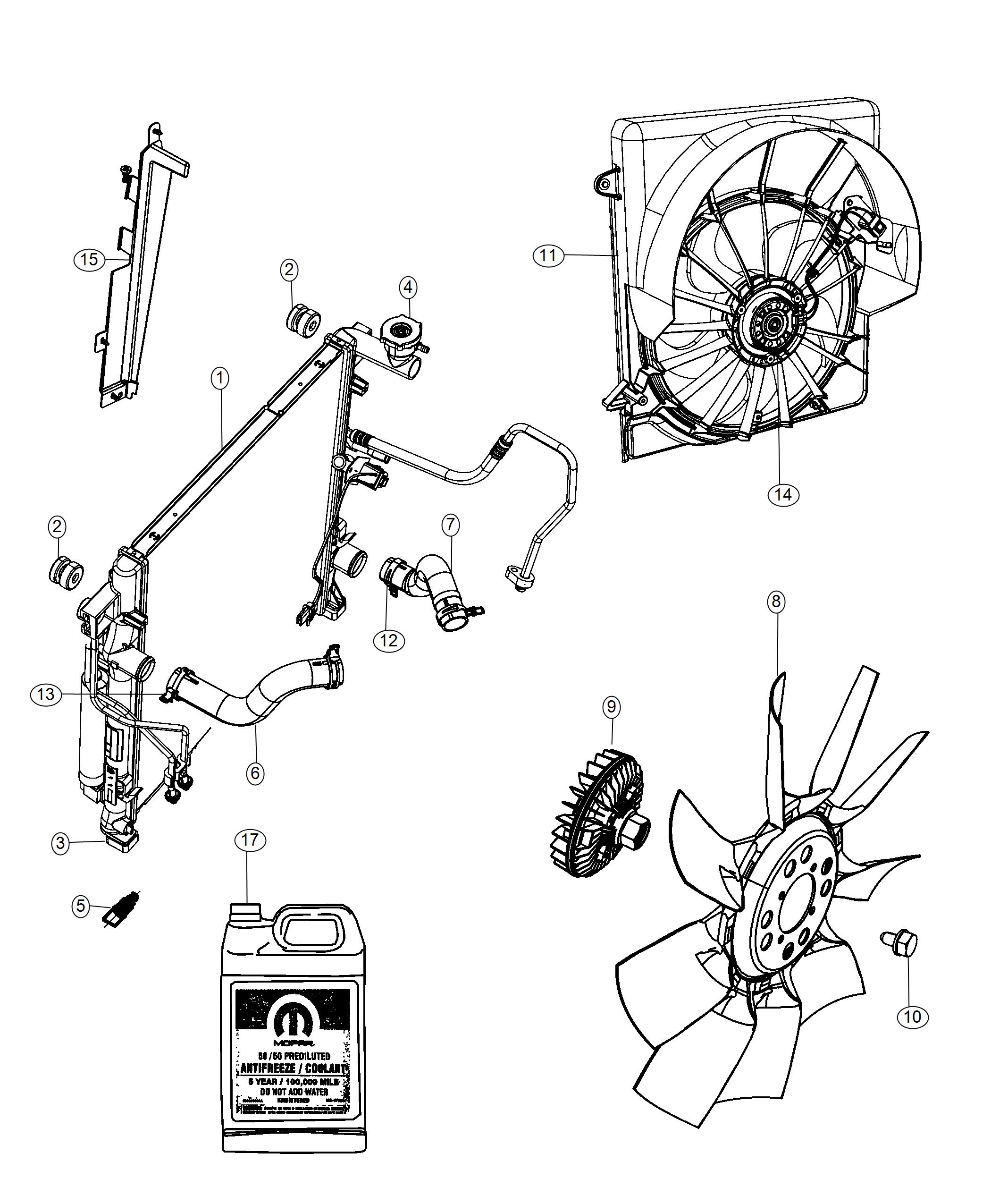 Jeep Liberty Clamp Radiator Hose Engine Side