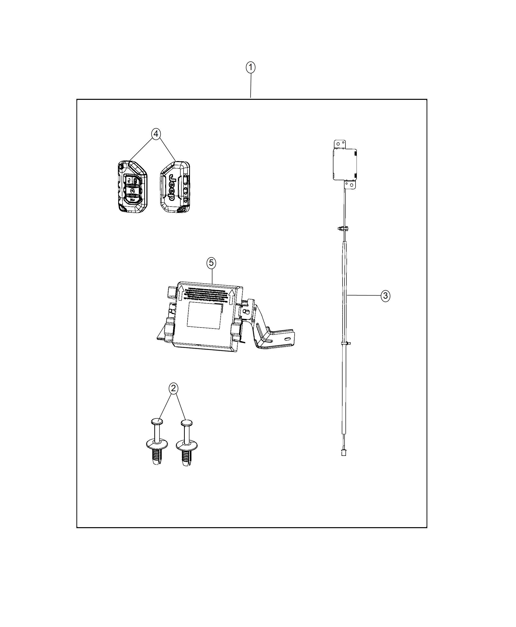 Jeep Wrangler Transmitter Integrated Key Fob Cut