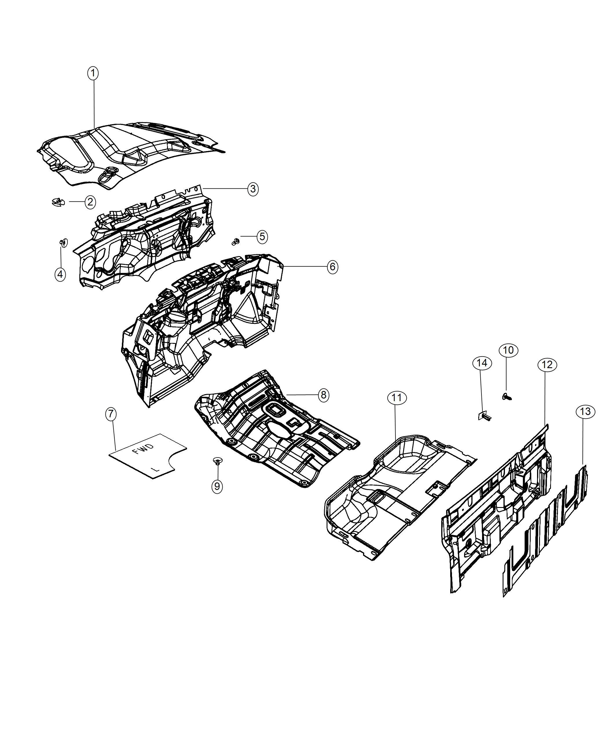 Ram Laramie Insulation Dash Panel 3 0l V6 Turbosel