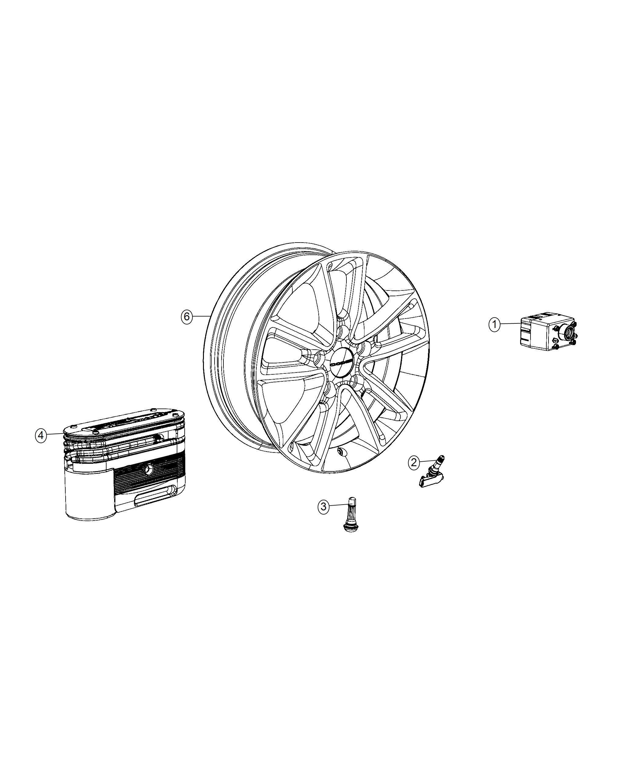 Chrysler Pacifica L Hybrid Inflator Kit Tire