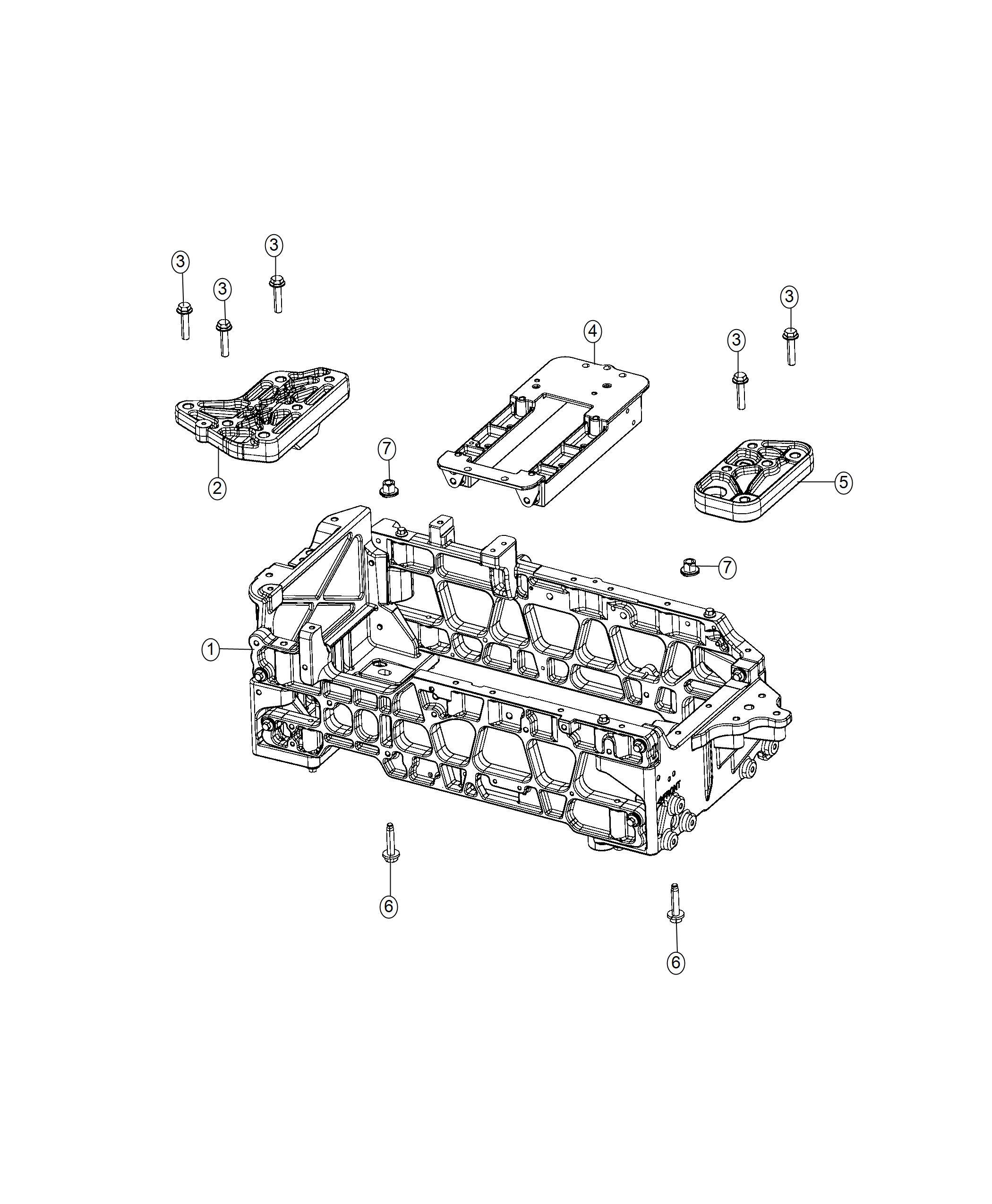Fiat 500e Bracket Crossmember Right Electric Motor