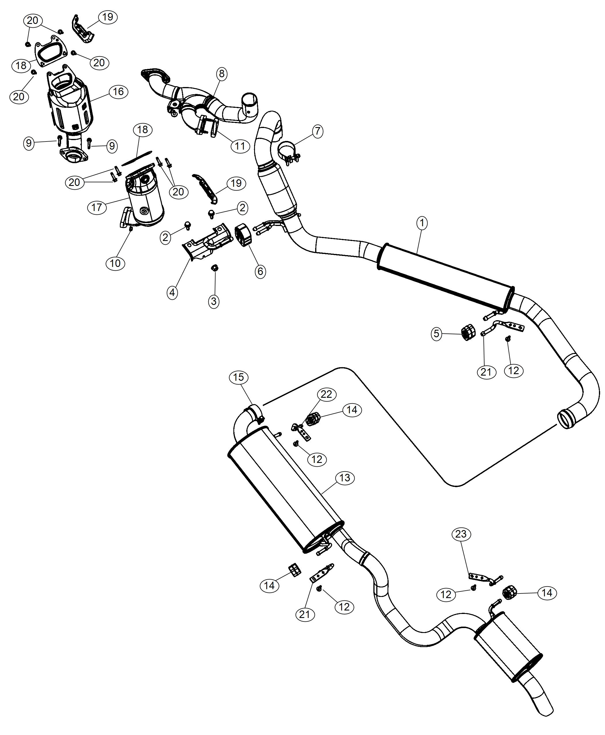Dodge Grand Caravan Manifold Used For Exhaust And