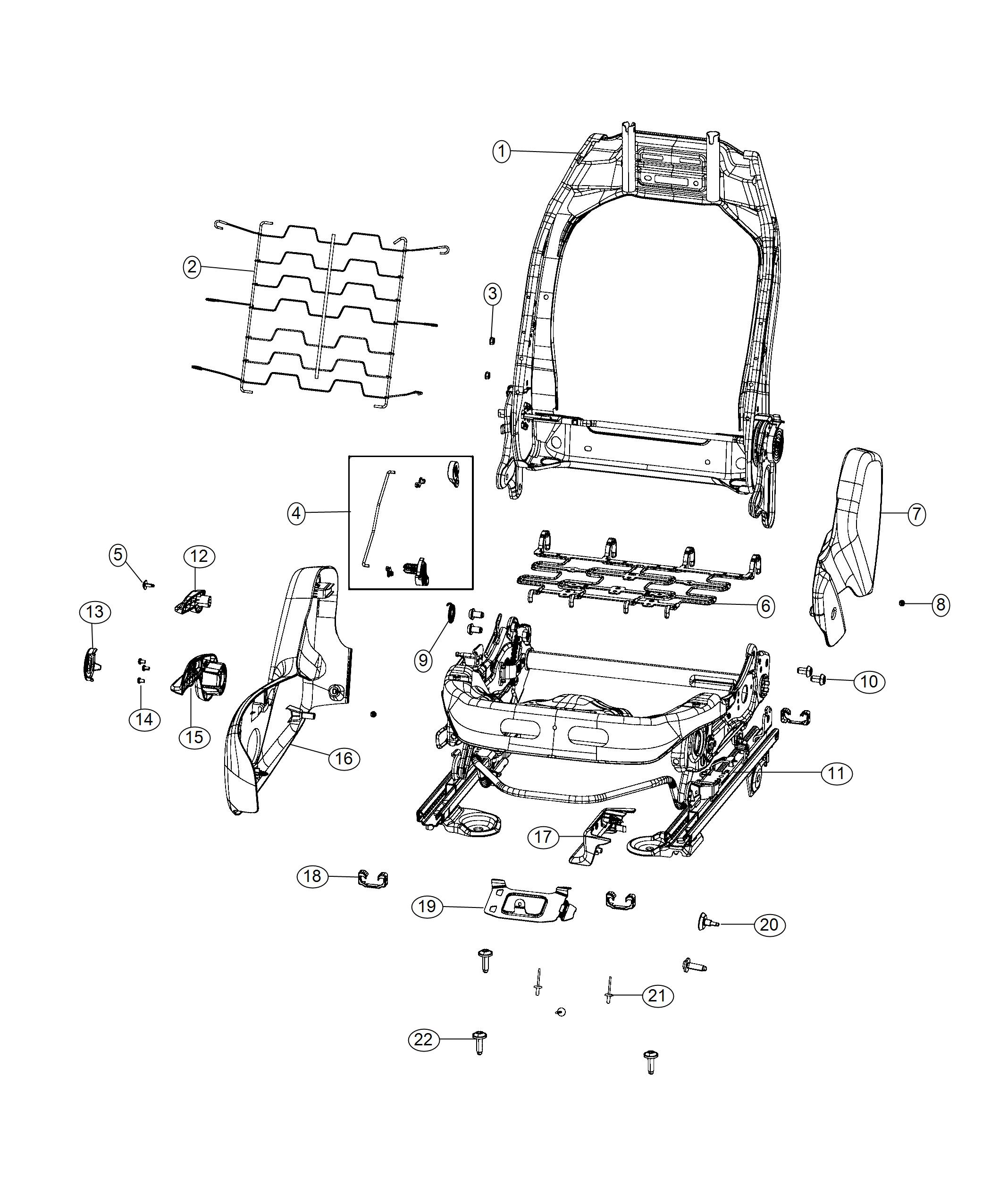 Jeep Compass Adjuster Manual Seat