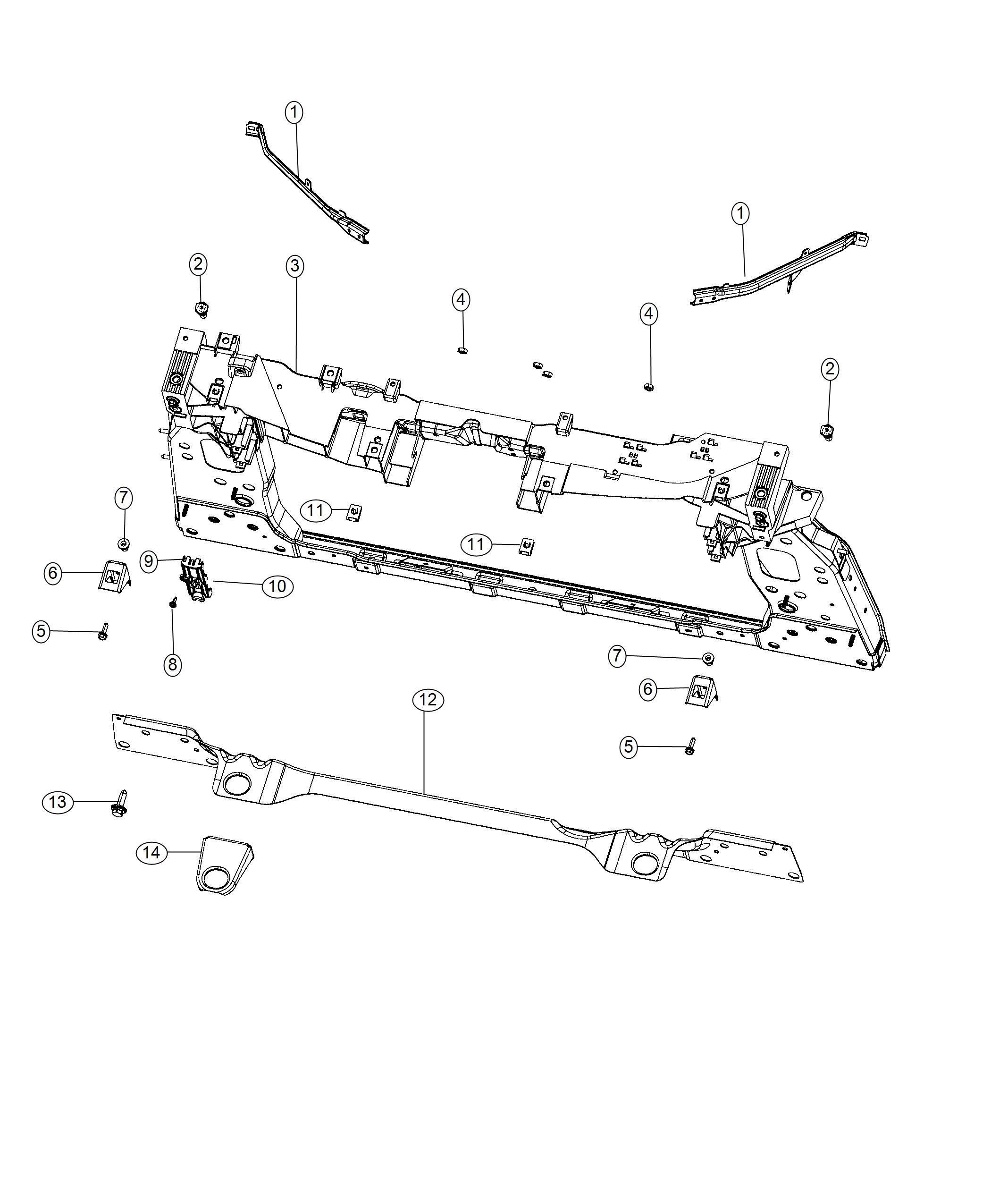 Jeep Renegade Screw Front End Parts Module
